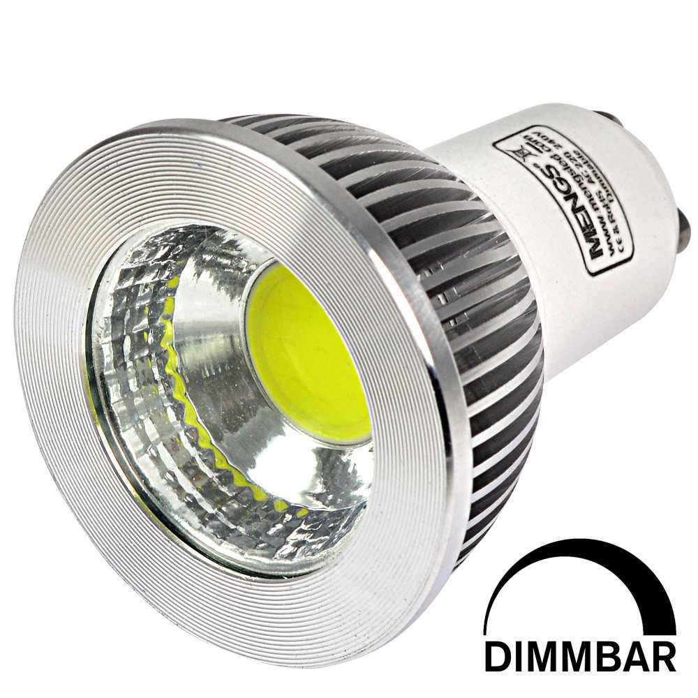 gu10 5w led dimmbar spotlight cob led lamp in cool white. Black Bedroom Furniture Sets. Home Design Ideas