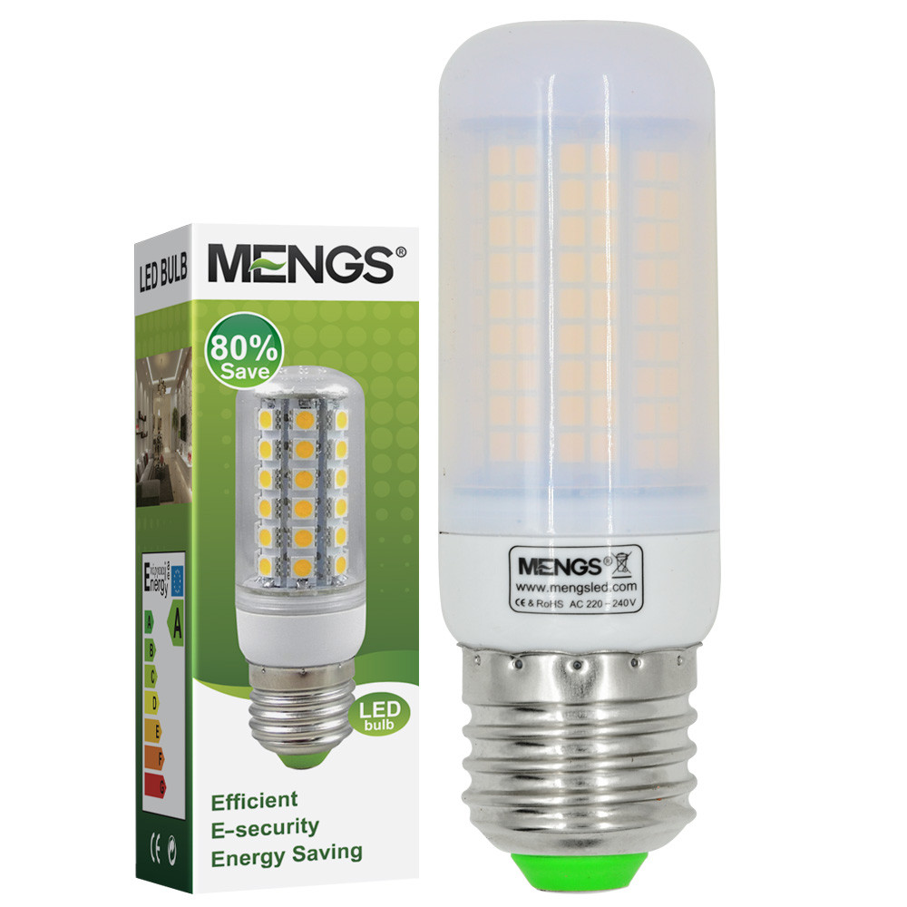 MENGS® E27 10W LED Corn Light 180x 2835 SMD LED Bulb Lamp In Warm White Energy-Saving Light(LB)