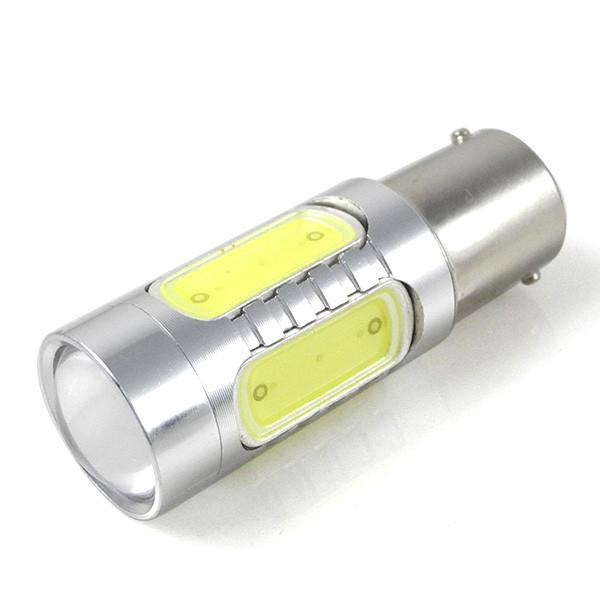 MENGS® BA15S 11W LED Car Light 5 COB LED Car Brake Light Lamp Bulb DC 10-30V in Cool White Energy-saving Light