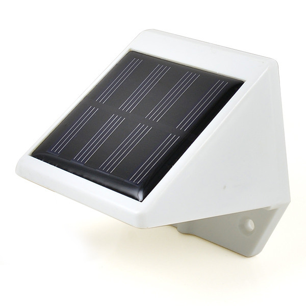 Outdoor Solar Powered 4 SMD LEDS Light Wall Mounted Garden Fence Yard Solar Lamps in Cool White ...