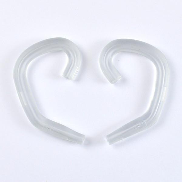 MENGS® E-100 Sports / Leisure Headphone Earloop Ergonomic In-Ear Headset Earhook - Transparent