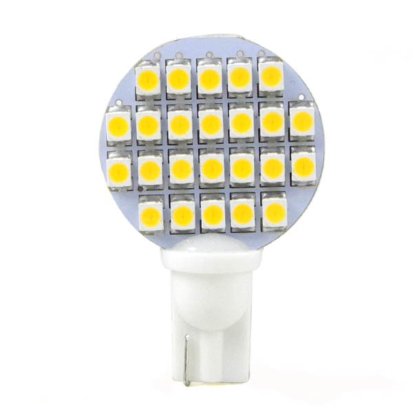 MENGS® T10 2W LED Car Light 24x 3528 SMD LEDs LED Bulb Lamp DC 12V In Warm White Energy-saving Lamp