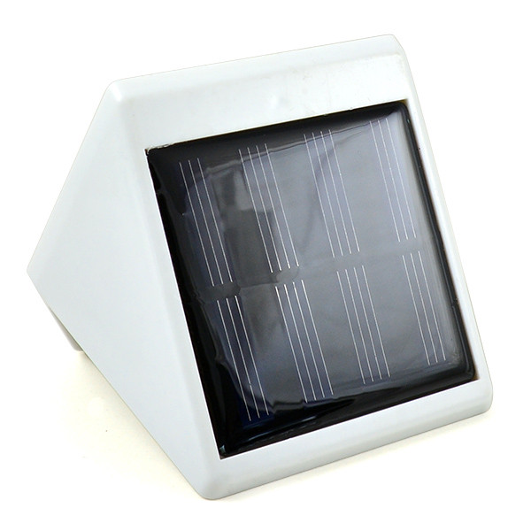 Wall Mounted Solar Lamps : Outdoor Solar Powered 4 SMD LEDS Light Wall Mounted Garden Fence Yard Solar Lamps in Cool White ...