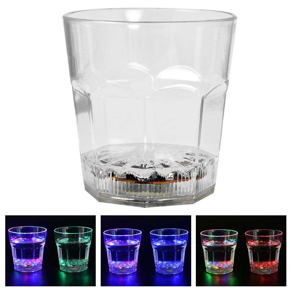 MENGS® 10 Oz Water Inductive LED Color Changing Cup With ACRYLIC Material For Placing Water, Milk, Tea Or Wine - Best Gift For Your Family