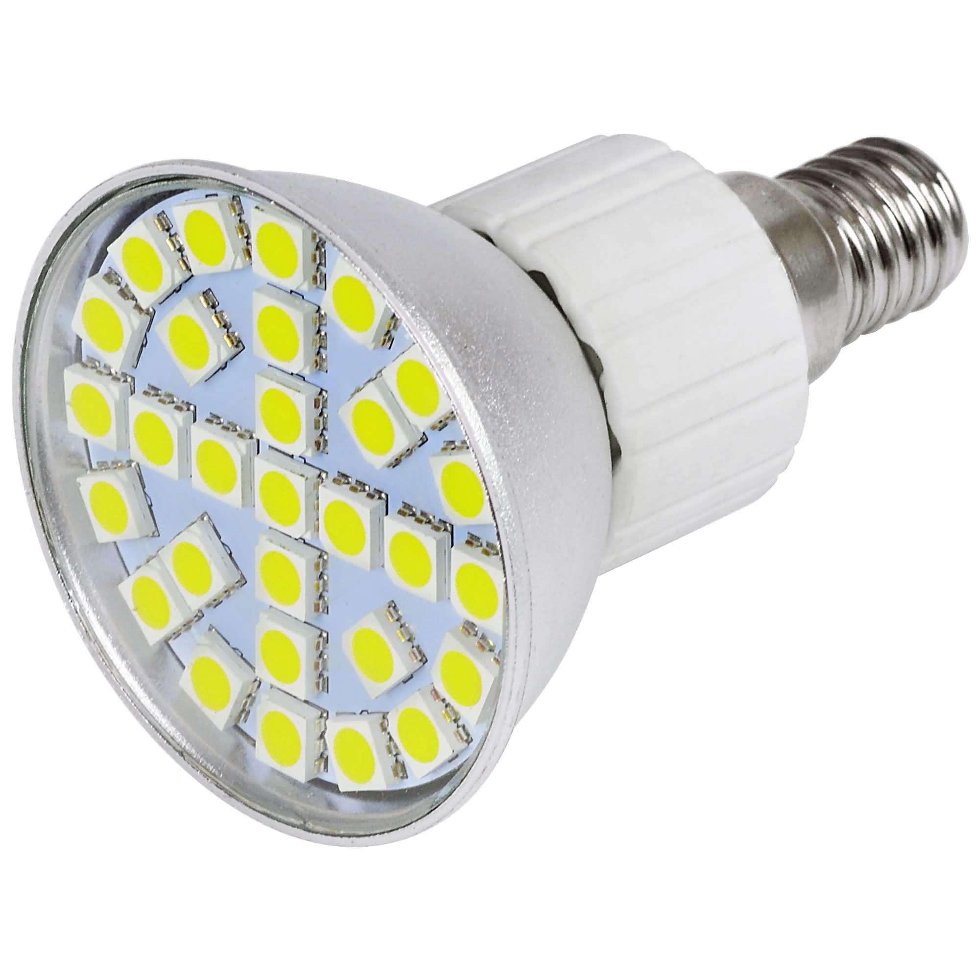 MENGS® E14 4.5W LED Spotlight 27x 5050 SMD LEDs LED Lamp Bulb in Cool White Energy-Saving Lamp