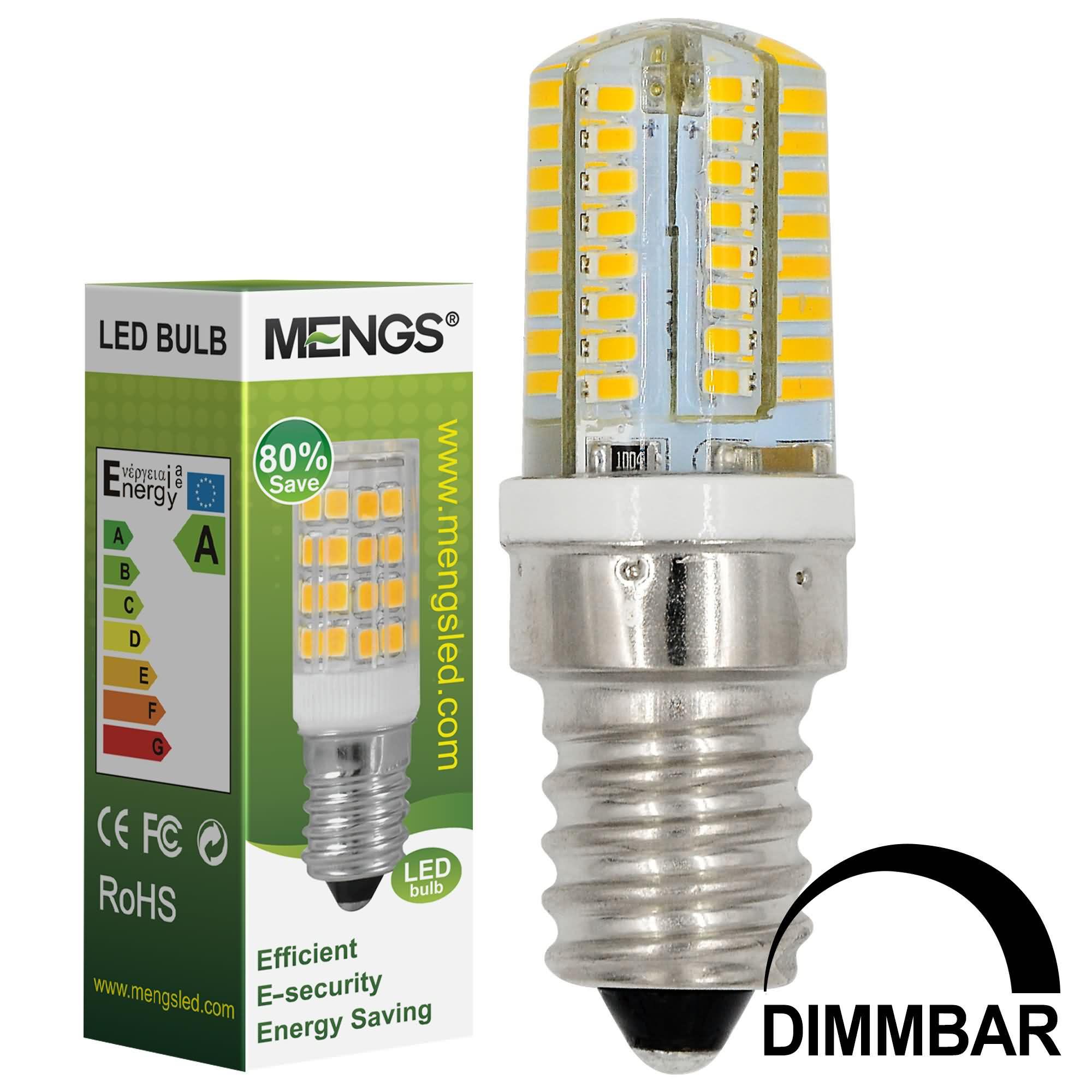 MENGS® E14 3W LED Dimmable Light 64x 3014 SMD LEDs LED Lamp in Warm White Energy-Saving Light