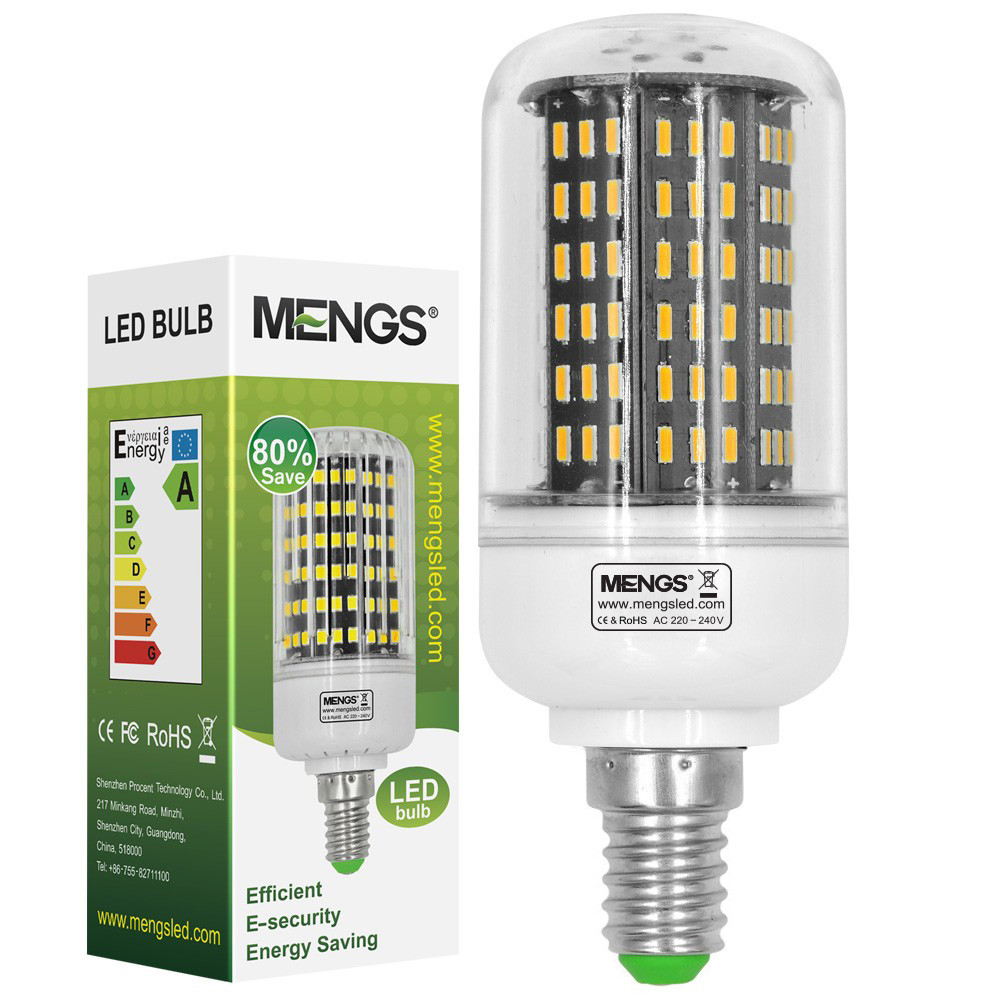 MENGS® E14 12W LED Corn Light 138x 4014 SMD LED Lamp Bulb In Cool White Energy-saving Light