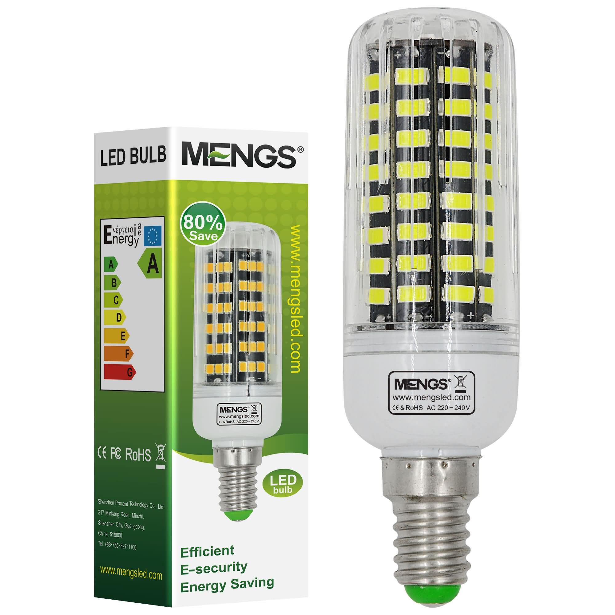 MENGS® E14 11W LED Corn Light 80x 5733 SMD LED Bulb Lamp In Cool White Energy-Saving Light