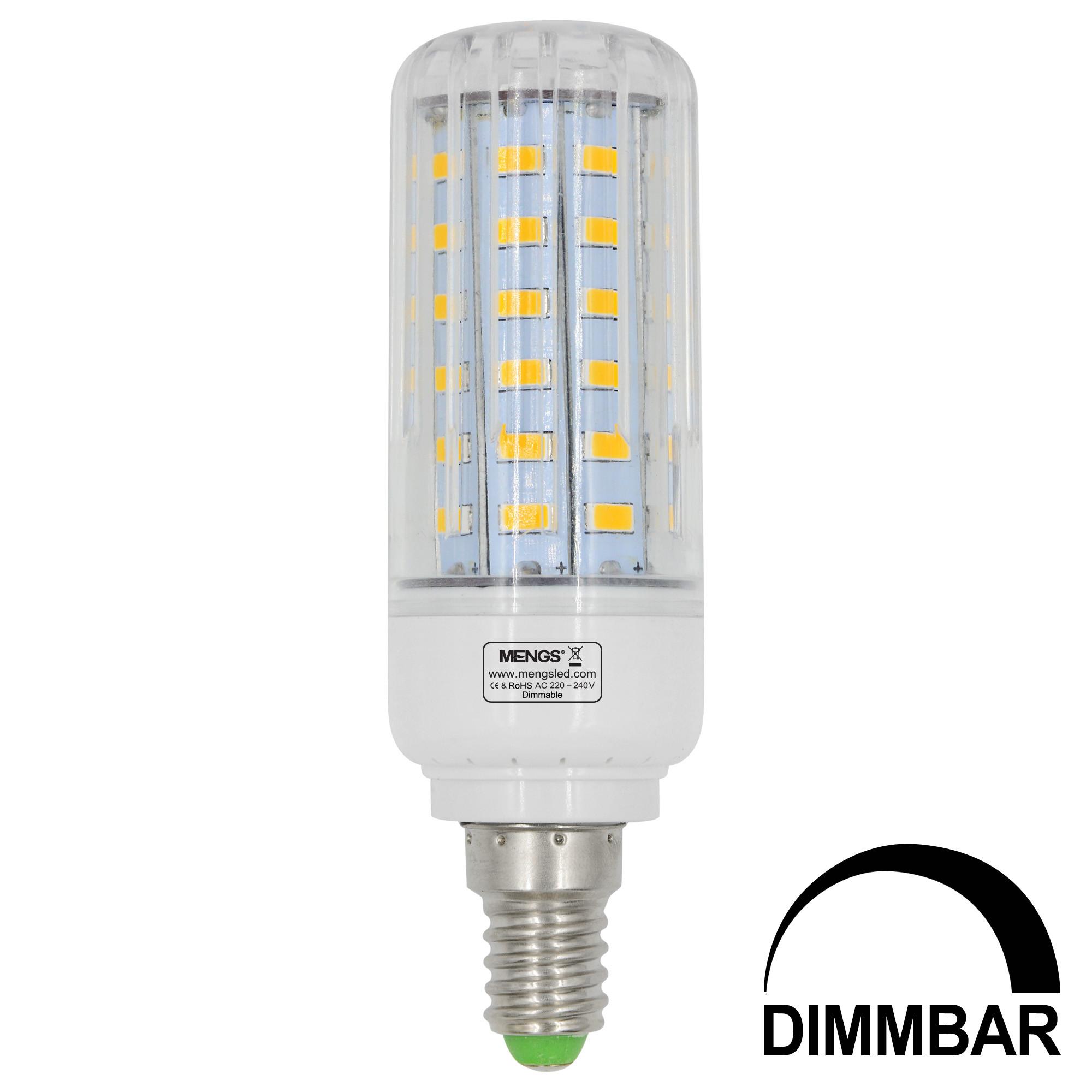 MENGS® E14 9W LED Dimmable Corn Light 60x 5736 SMD LED Bulb Lamp AC 220-240V In Cool White Energy-Saving Light