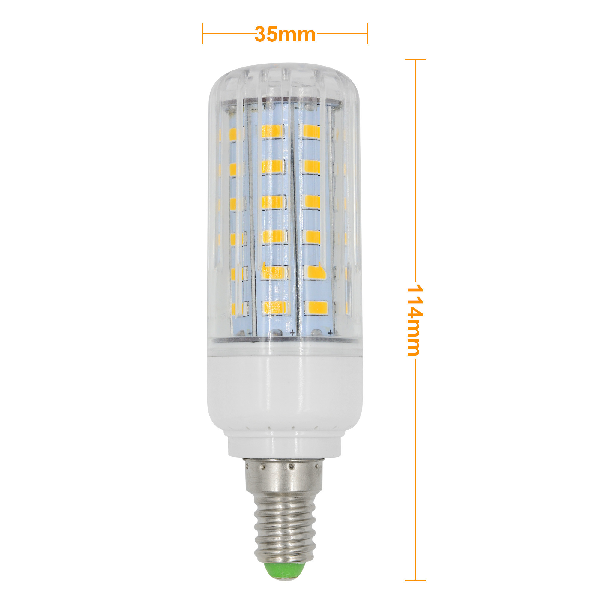 e14 9w led dimmable corn light 60x 5736 smd led bulb lamp ac 220 240v in warm white energy. Black Bedroom Furniture Sets. Home Design Ideas