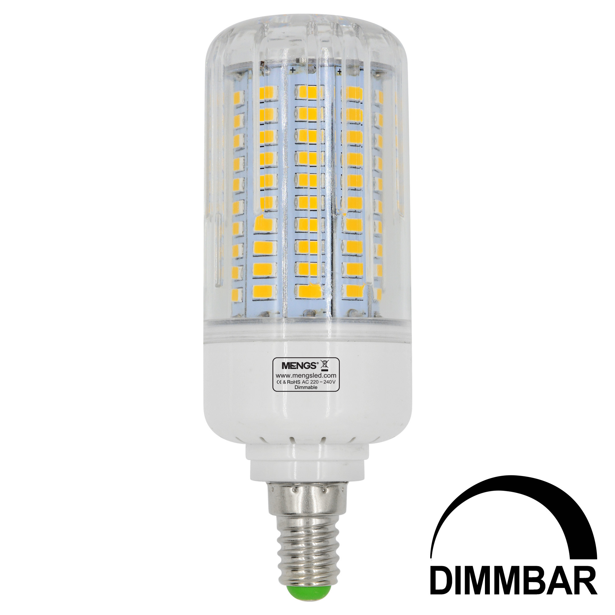 MENGS® E14 15W LED Dimmable Corn Light 120x 5736 SMD LED Bulb Lamp AC 220-240V In Warm White Energy-Saving Light