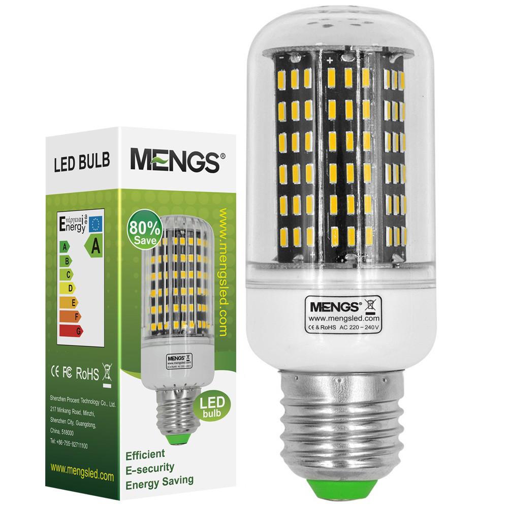 MENGS® E27 12W LED Corn Light 138x 4014 SMD LED Lamp Bulb In Warm White Energy-saving Light