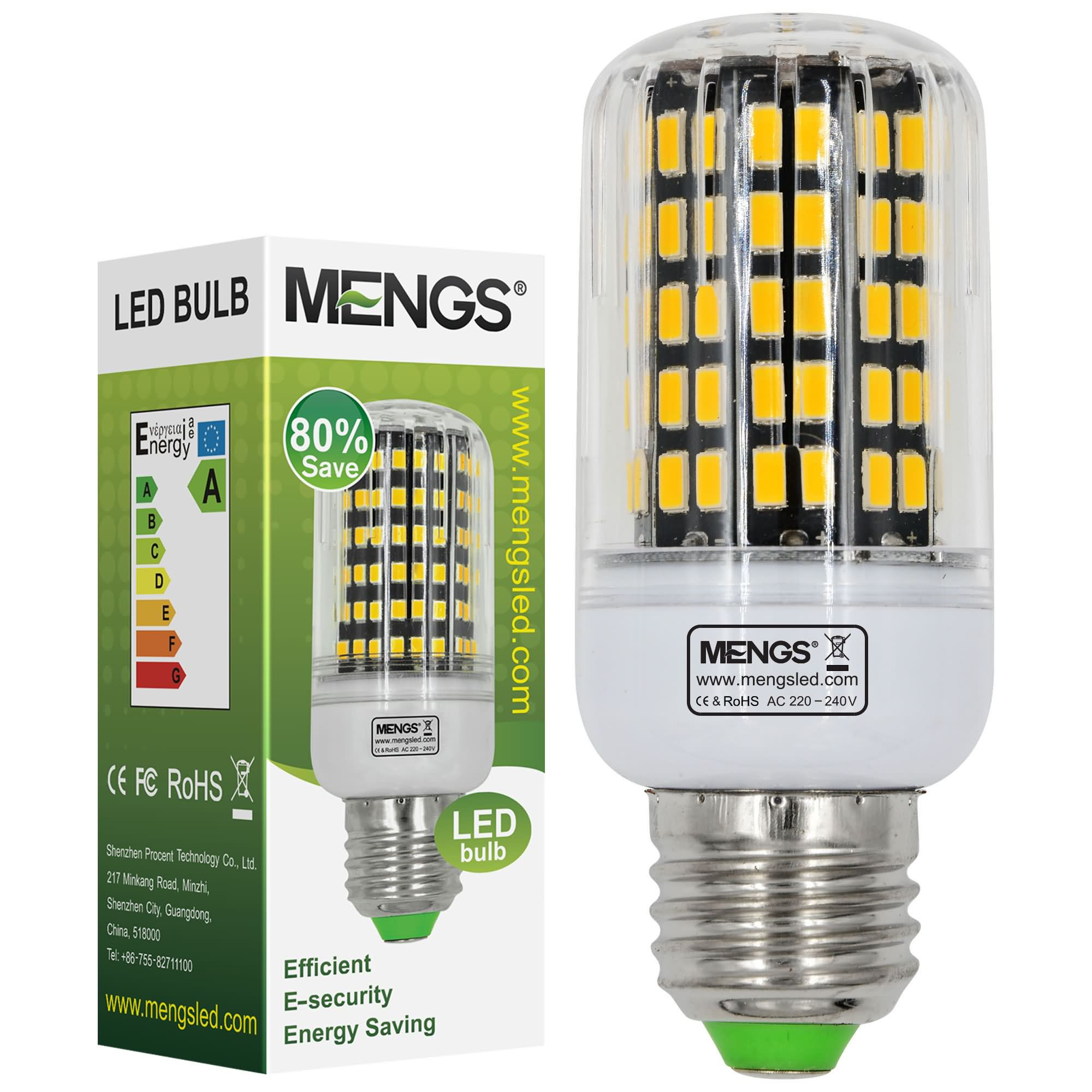 MENGS® E27 15W LED Corn Light 108x 5733 SMD LED Bulb Lamp In Warm White Energy-Saving Light
