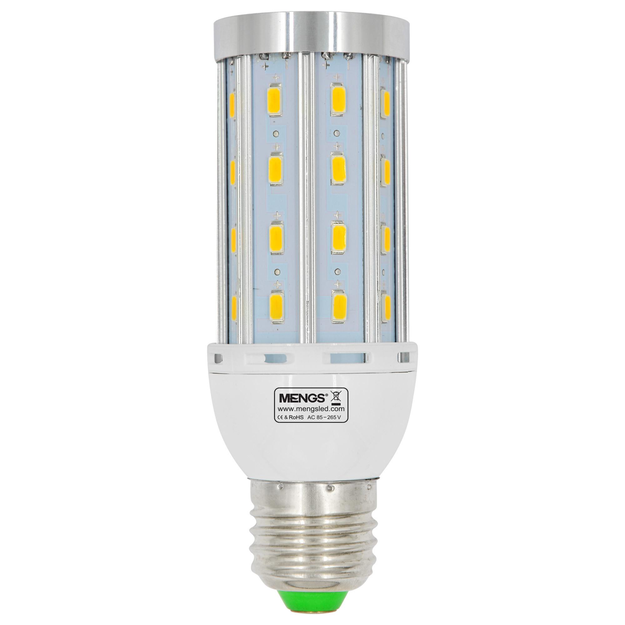 MENGS® Anti-Strobe E27 12W LED Corn Light 40x 5730 SMD LED Bulb Lamp With Aluminum Plate AC 85-265V In Warm White Energy-Saving Lamp