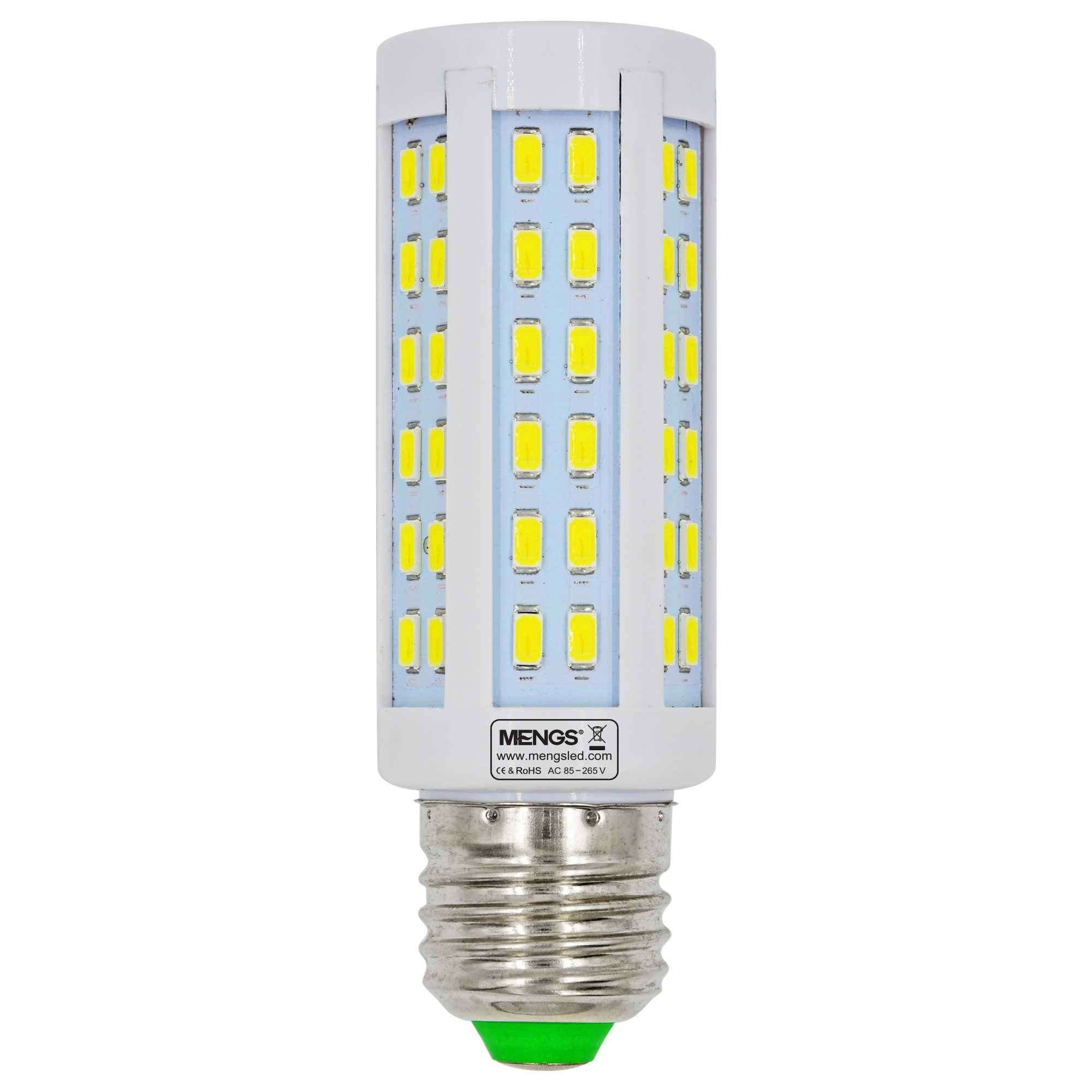 MENGS® E27 10W  LED Corn Light 84x 5730 SMD LED Bulb Lamp AC 85-265V in Cool White Energy-Saving Light