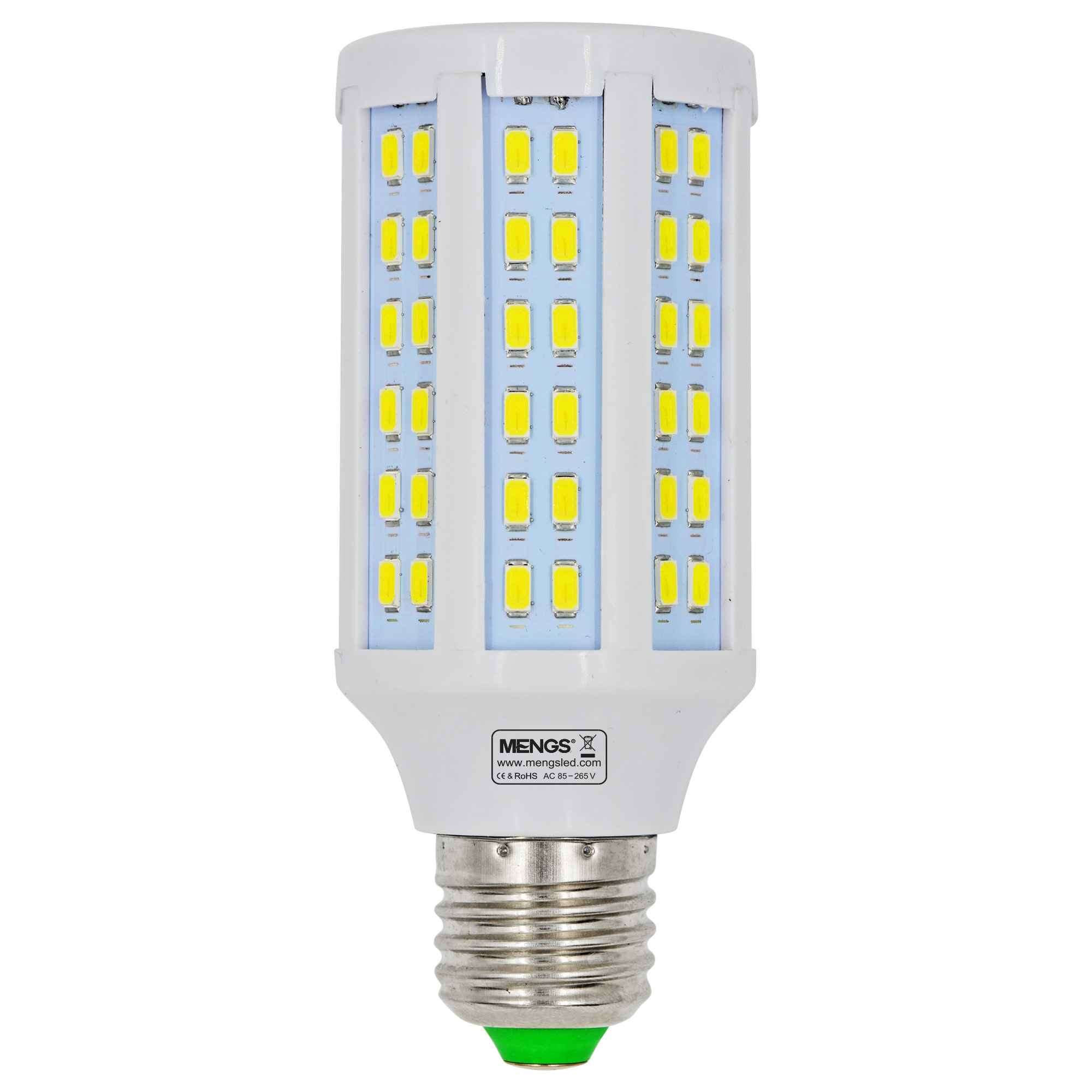MENGS® E27 15W  LED Corn Light 120x 5730 SMD LED Bulb Lamp AC 85-265V in Cool White Energy-Saving Light