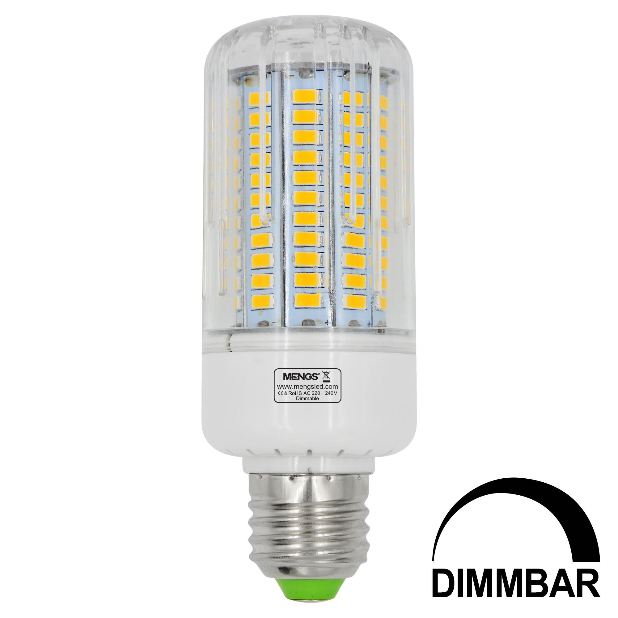 MENGS® E27 18W LED Dimmable Corn Light 130x 5736 SMD LED Bulb Lamp AC 220-240V In Warm White Energy-Saving Light
