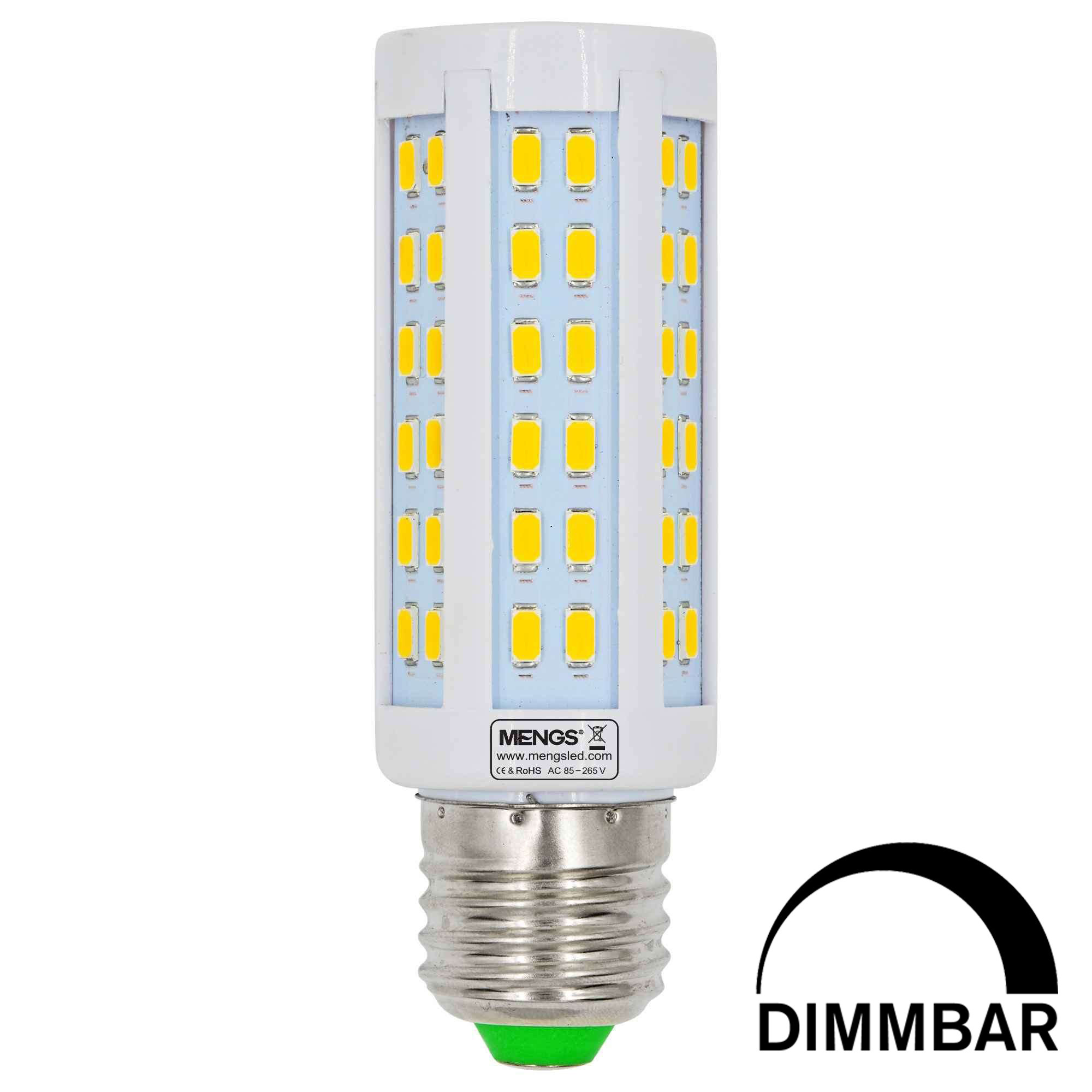 MENGS® E27 10W  LED Dimmable Corn Light 84x 5730 SMD LED Bulb Lamp AC 85-265V in Warm White Energy-Saving Light