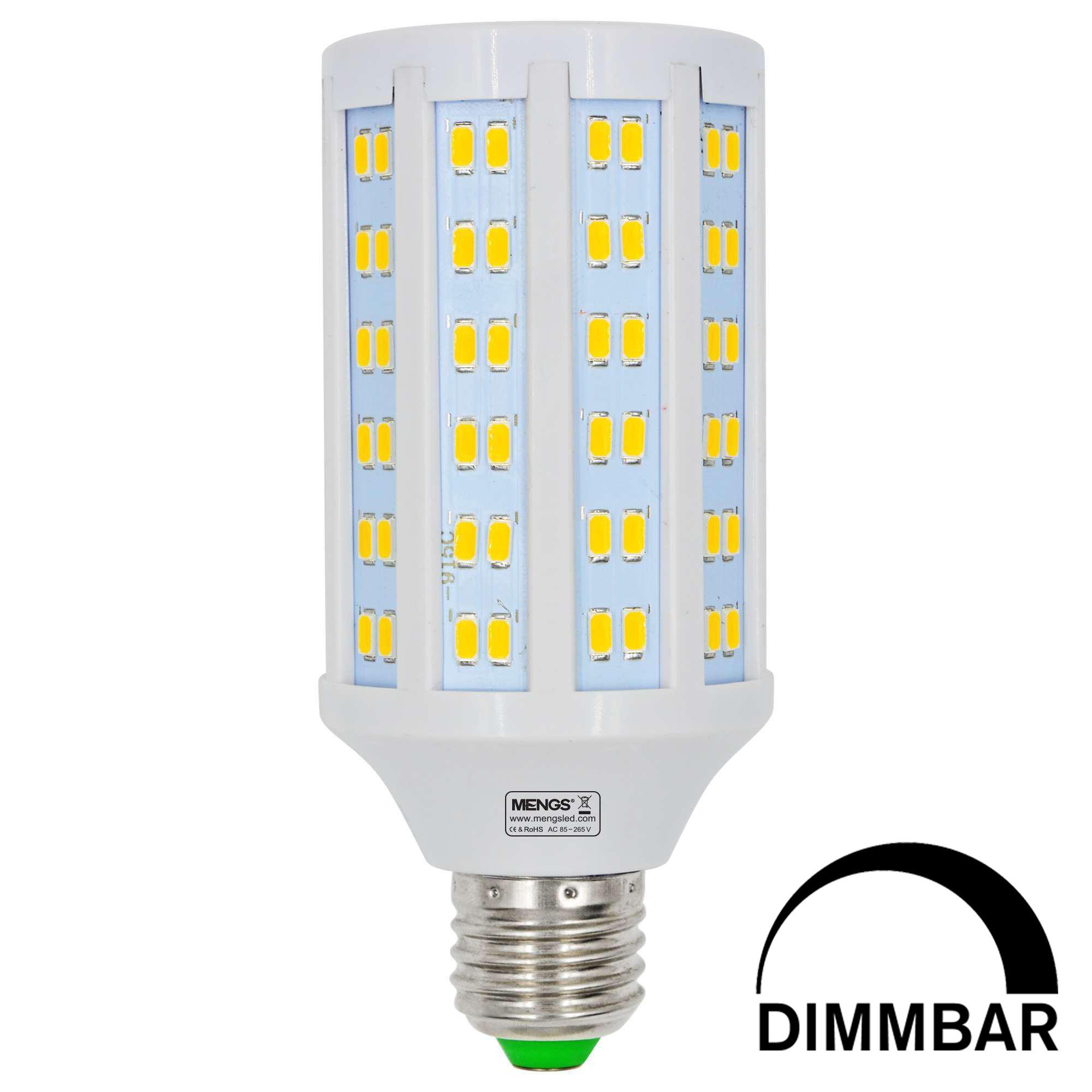 MENGS® E27 20W LED Dimmable Corn Light 144x 5730 SMD LED Bulb Lamp AC 85-265V in Warm White Energy-Saving Light