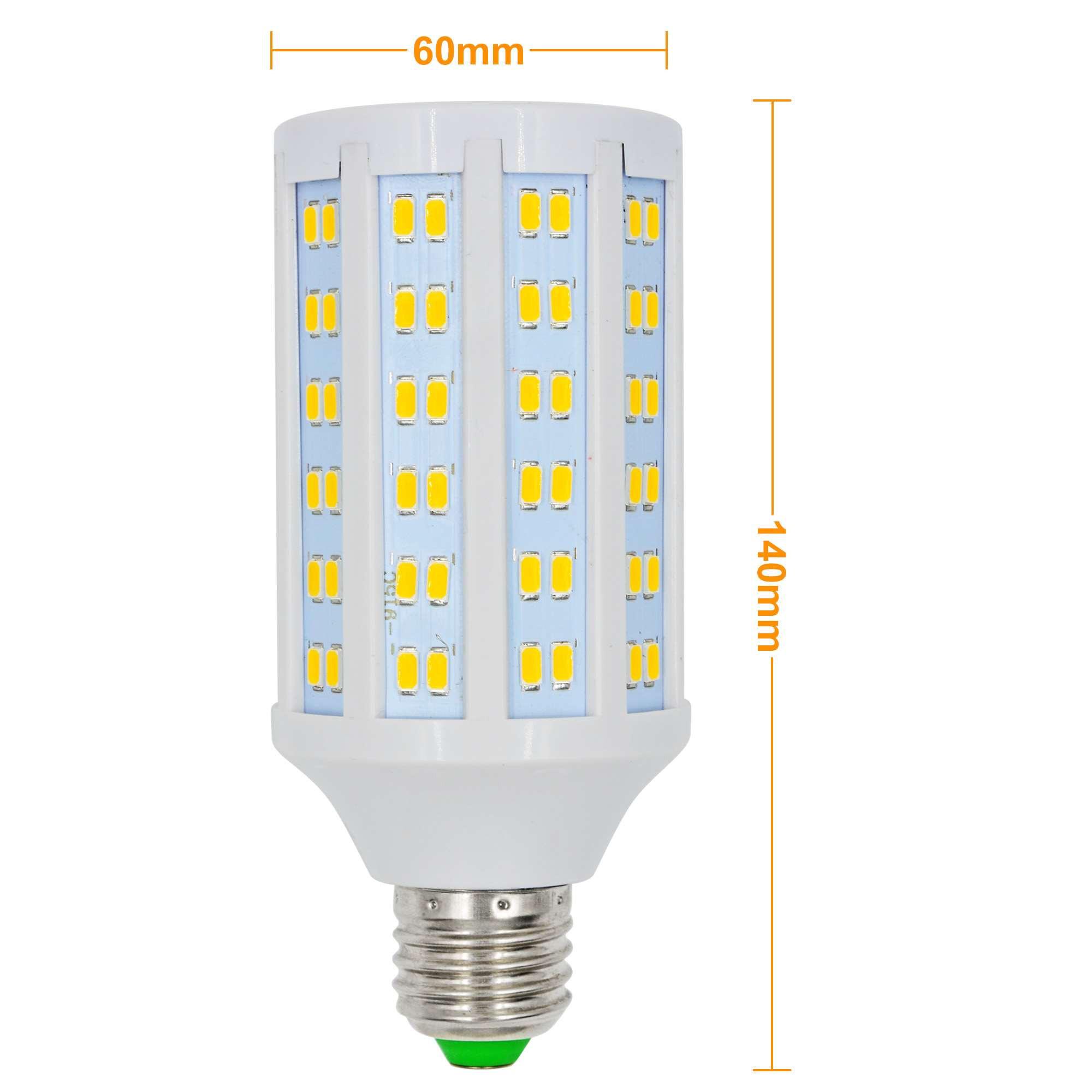 e27 20w led dimmable corn light 144x 5730 smd led bulb lamp ac 85 265v in warm white energy. Black Bedroom Furniture Sets. Home Design Ideas