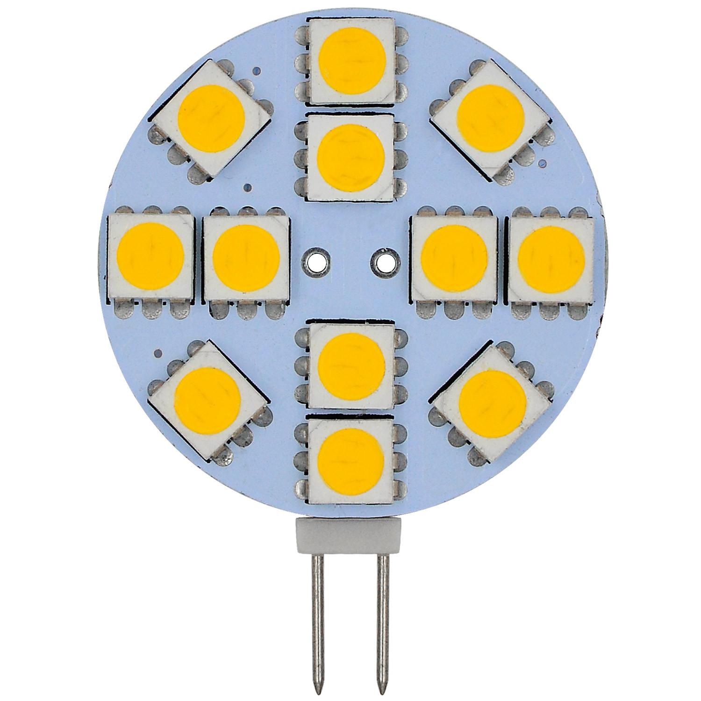 MENGS® G4 2W LED Light 12x 5050 SMD LEDs LED Bulb In Warm White Energy-Saving Lamp