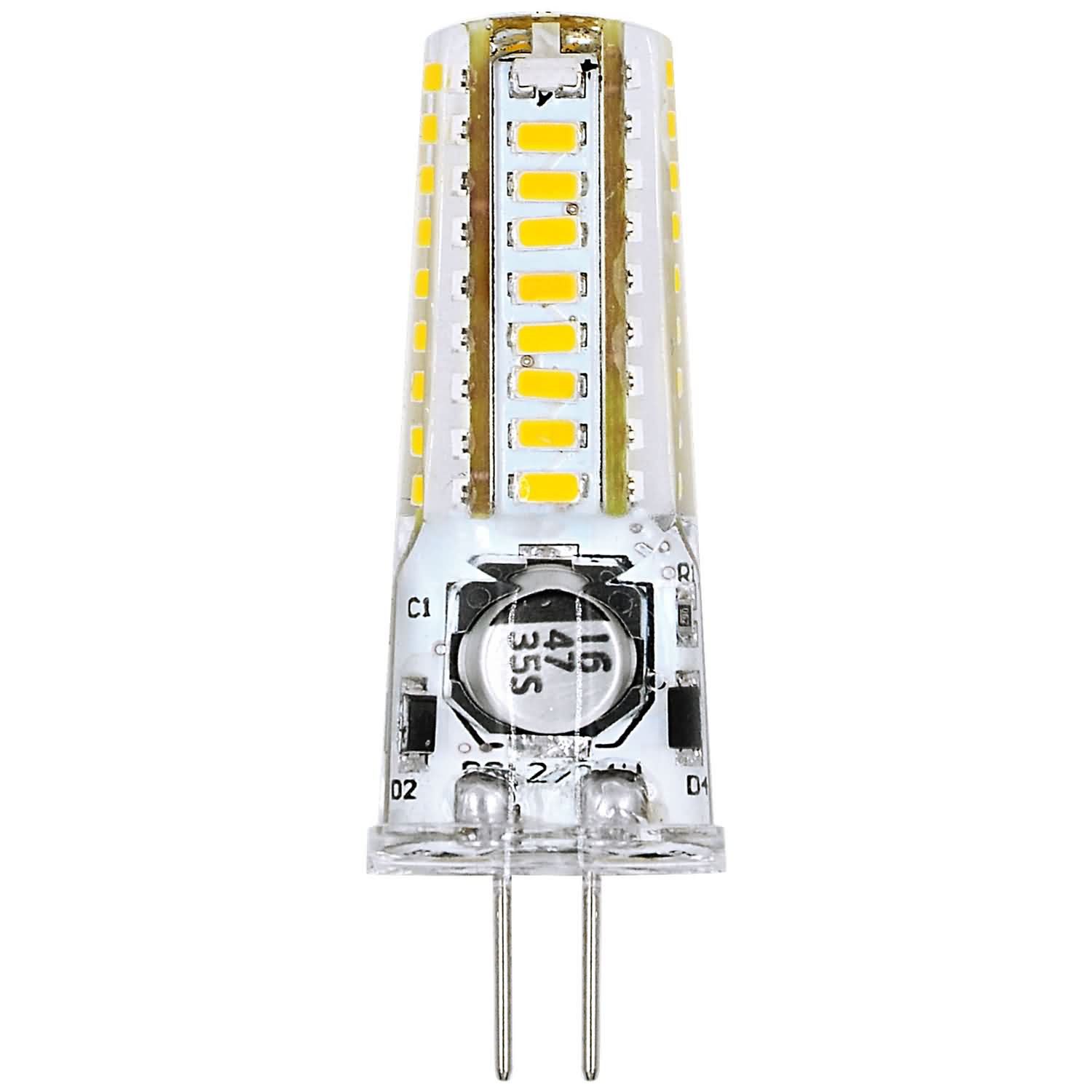 MENGS® G4 3W LED Light With Silicone Material 36x 3014 SMD LED Bulb Lamp AC/DC 12V In Warm White Energy-Saving Light