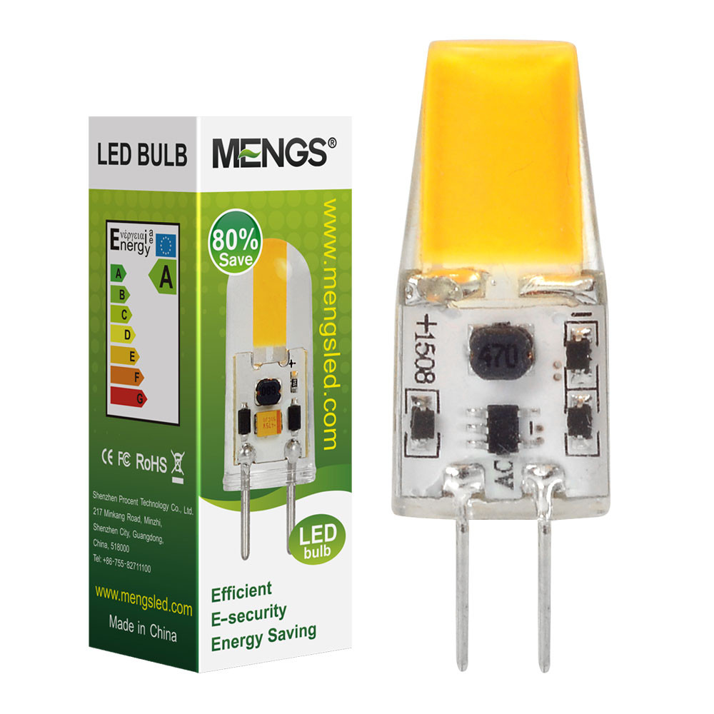MENGS® G4 3W LED Light COB LED Bulb Lamp With Silicone Material In Warm White Energy-Saving Light