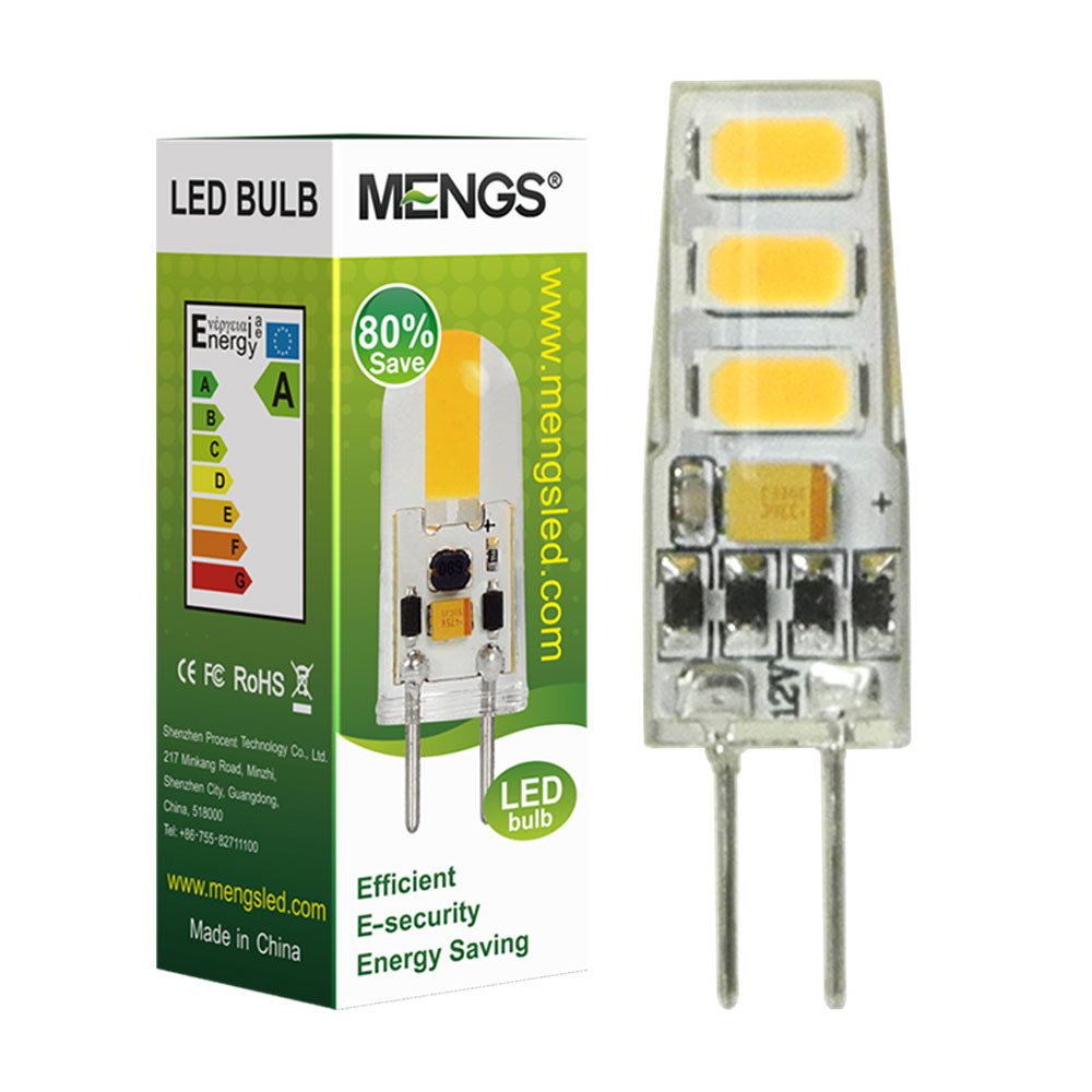 MENGS® Flicker-free G4 2W = 15W LED Light With Silicone Body 6x 5730 SMD LED Bulb Lamp In Cool White Energy-Saving Light