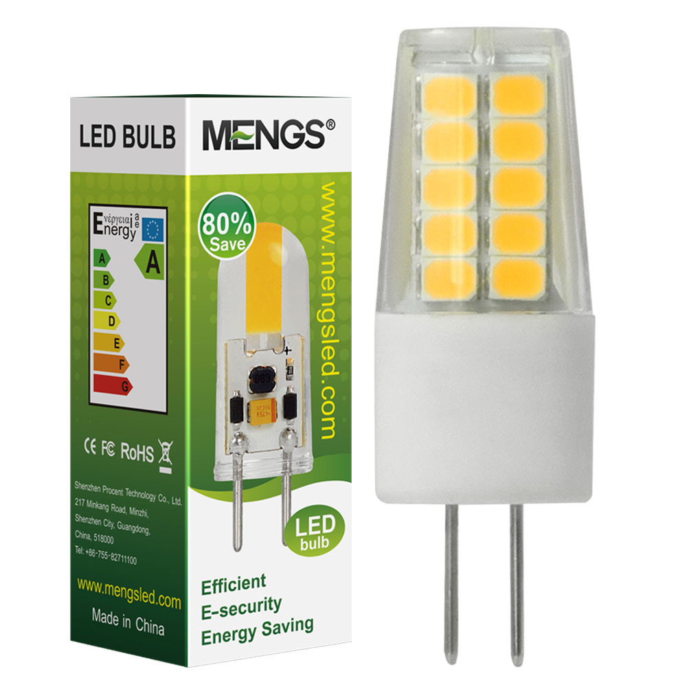 MENGS® Flicker-free G4 3W = 20W LED Light With Ceramic + PC 20x 2835 SMD LED Bulb Lamp In Warm White Energy-Saving Light