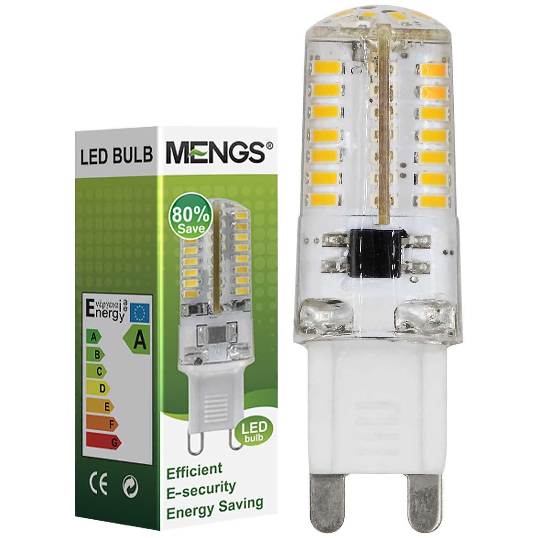 MENGS® G9 3W LED Corn Light 64x 3014 SMD LEDs LED Lamp AC 220-240V in Cool White Energy-saving Lamp