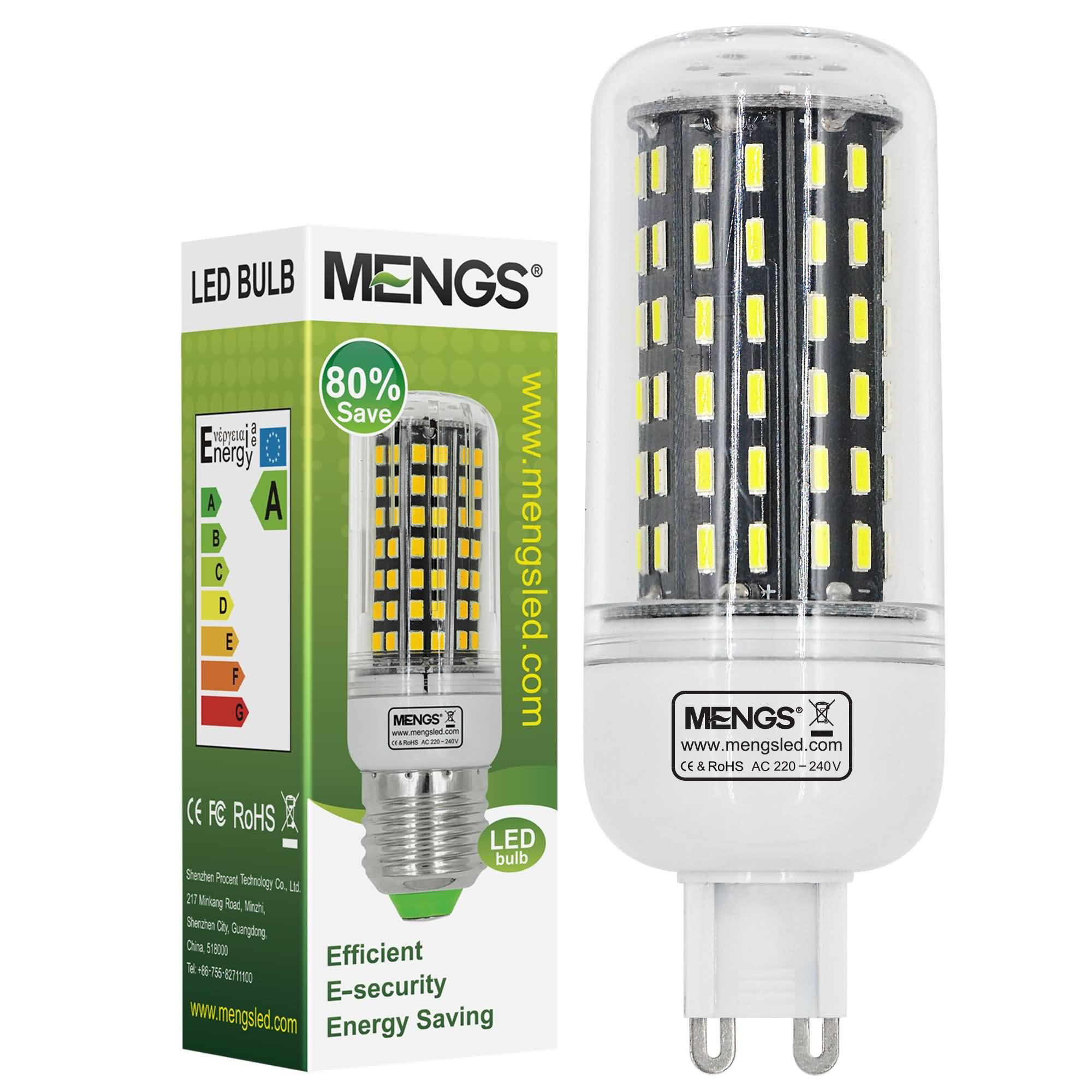 MENGS® G9 9W LED Corn Light 96x 4014 SMD LED Lamp Bulb In Cool White Energy-Saving Light