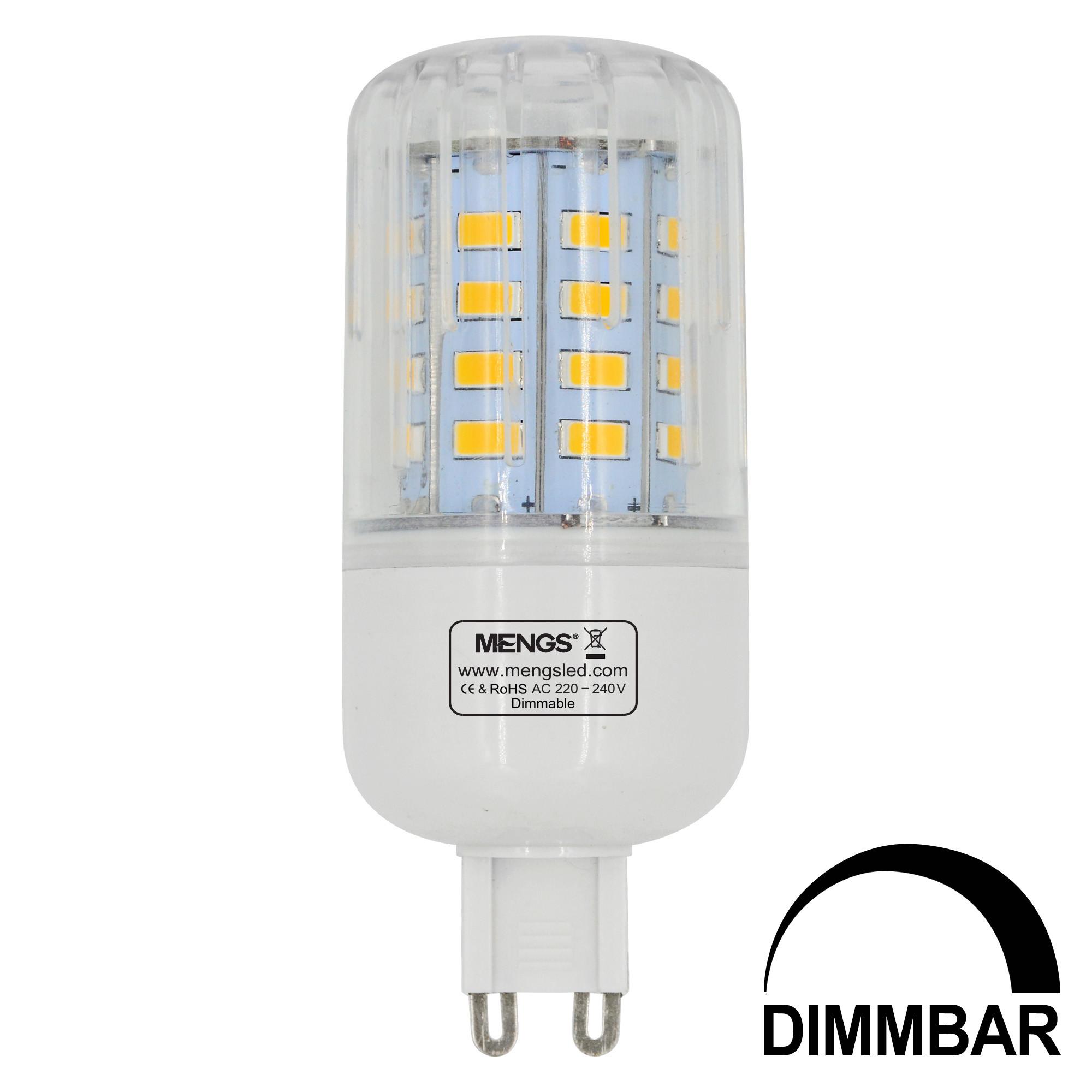 MENGS® G9 5W LED Dimmable Corn Light 40x 5736 SMD LED Bulb Lamp AC 220-240V In Warm White Energy-Saving Light
