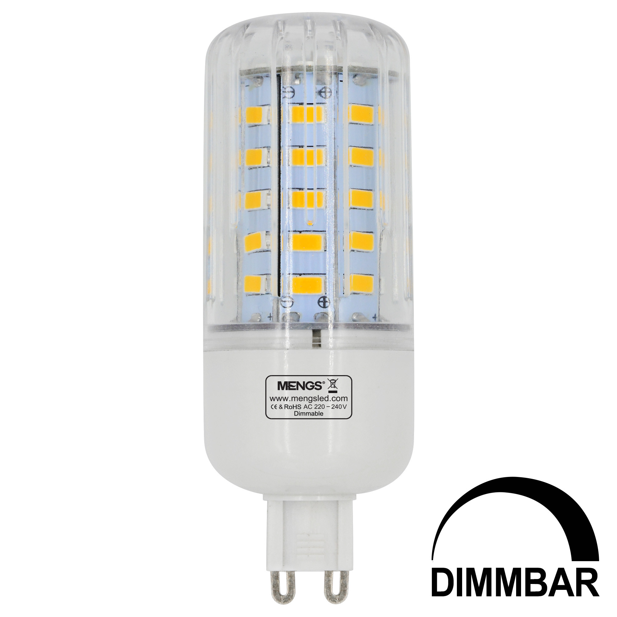 g9 7w led dimmable corn light 50x 5736 smd led bulb lamp ac 220 240v in warm white energy saving. Black Bedroom Furniture Sets. Home Design Ideas