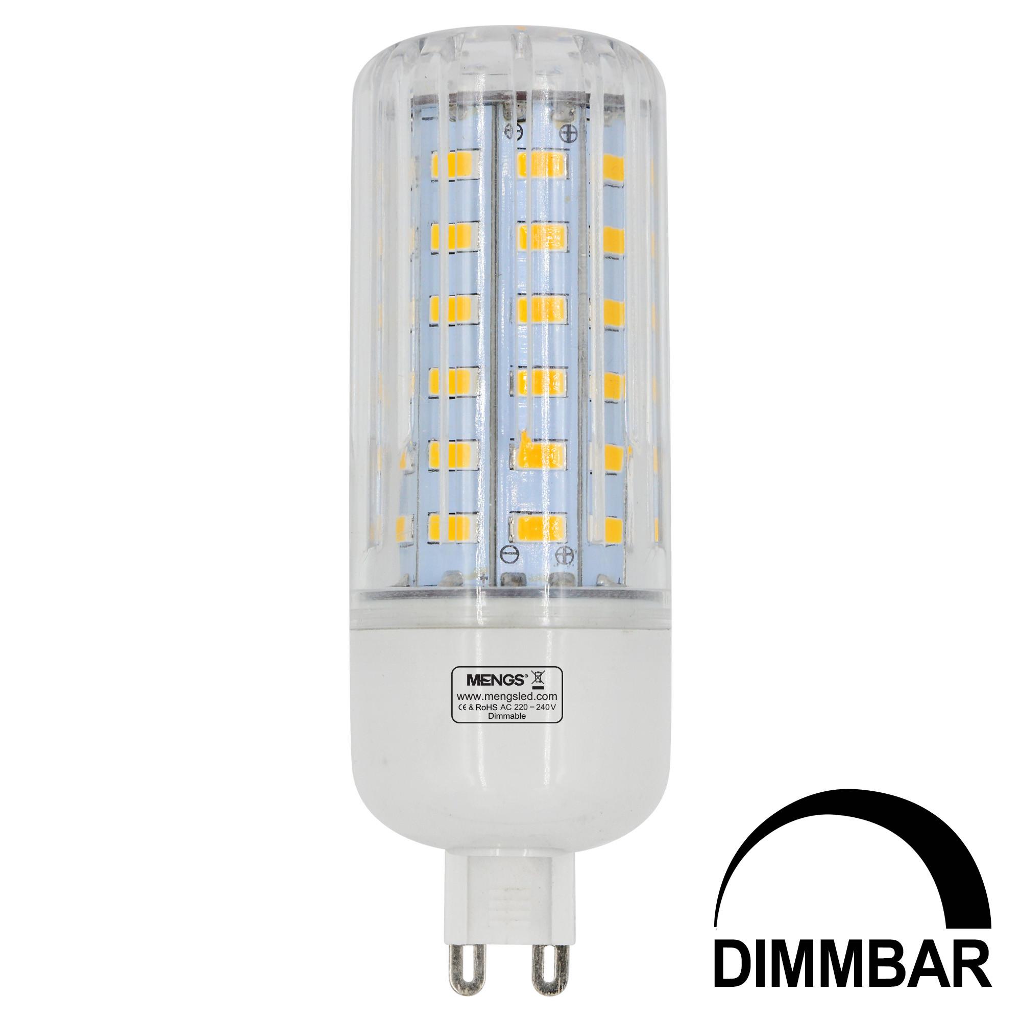 MENGS® G9 9W LED Dimmable Corn Light 60x 5736 SMD LED Bulb Lamp AC 220-240V In Warm White Energy-Saving Light