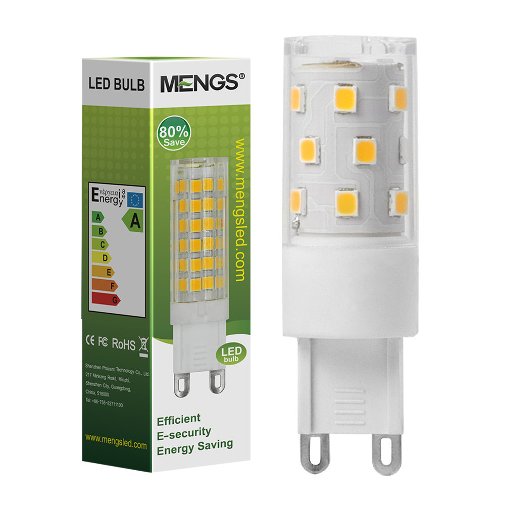 MENGS® Flicker-free G9 5W LED Light 21x 2835 SMD With PC + Ceramics LED Bulb Lamp AC 90-265V In Cool White Energy-Saving Light