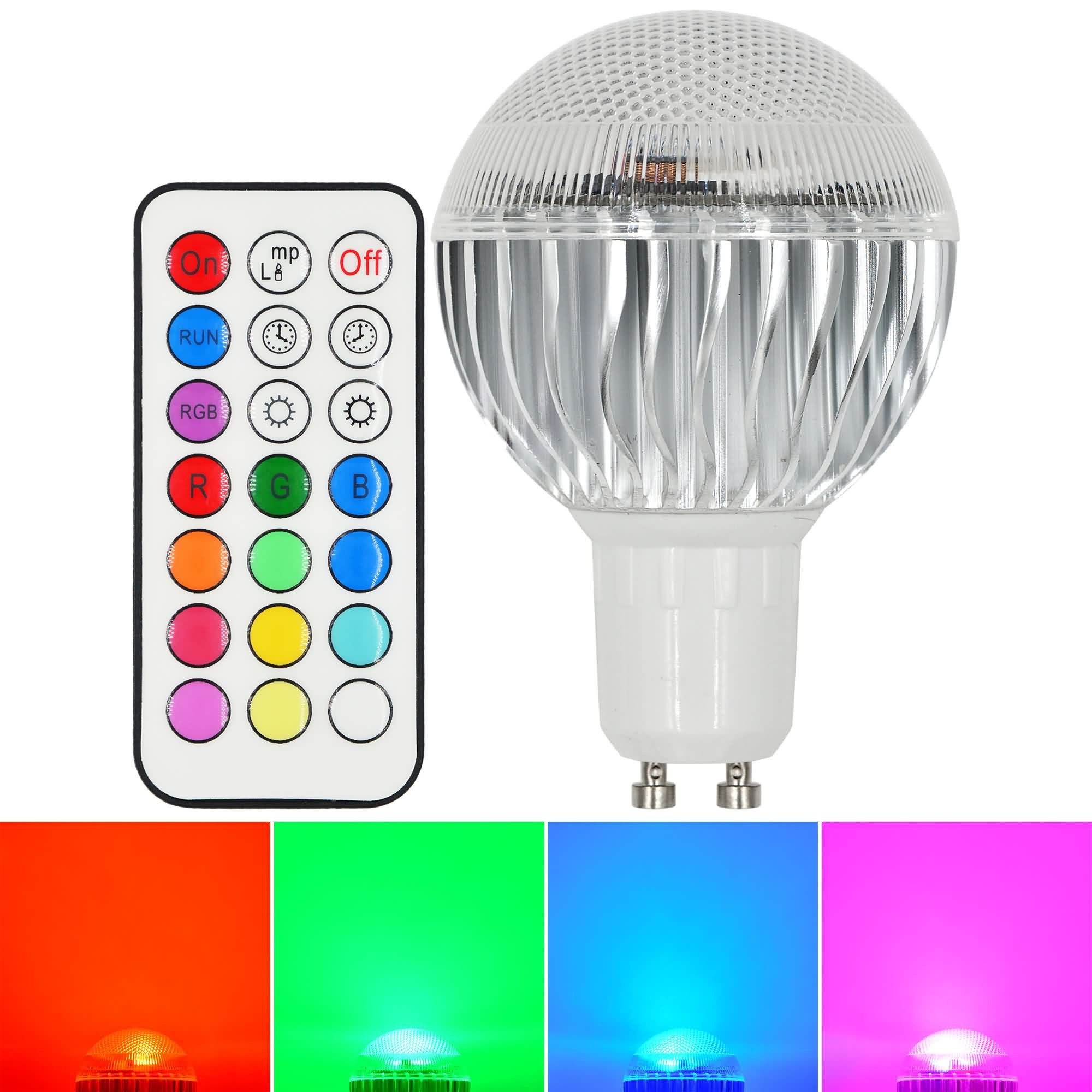 MENGS® GU10 8W LED RGB Light 16 Colour changing SMD LEDs LED Globe lamp Bulb with IR Remote Control - multicolor Dimmable