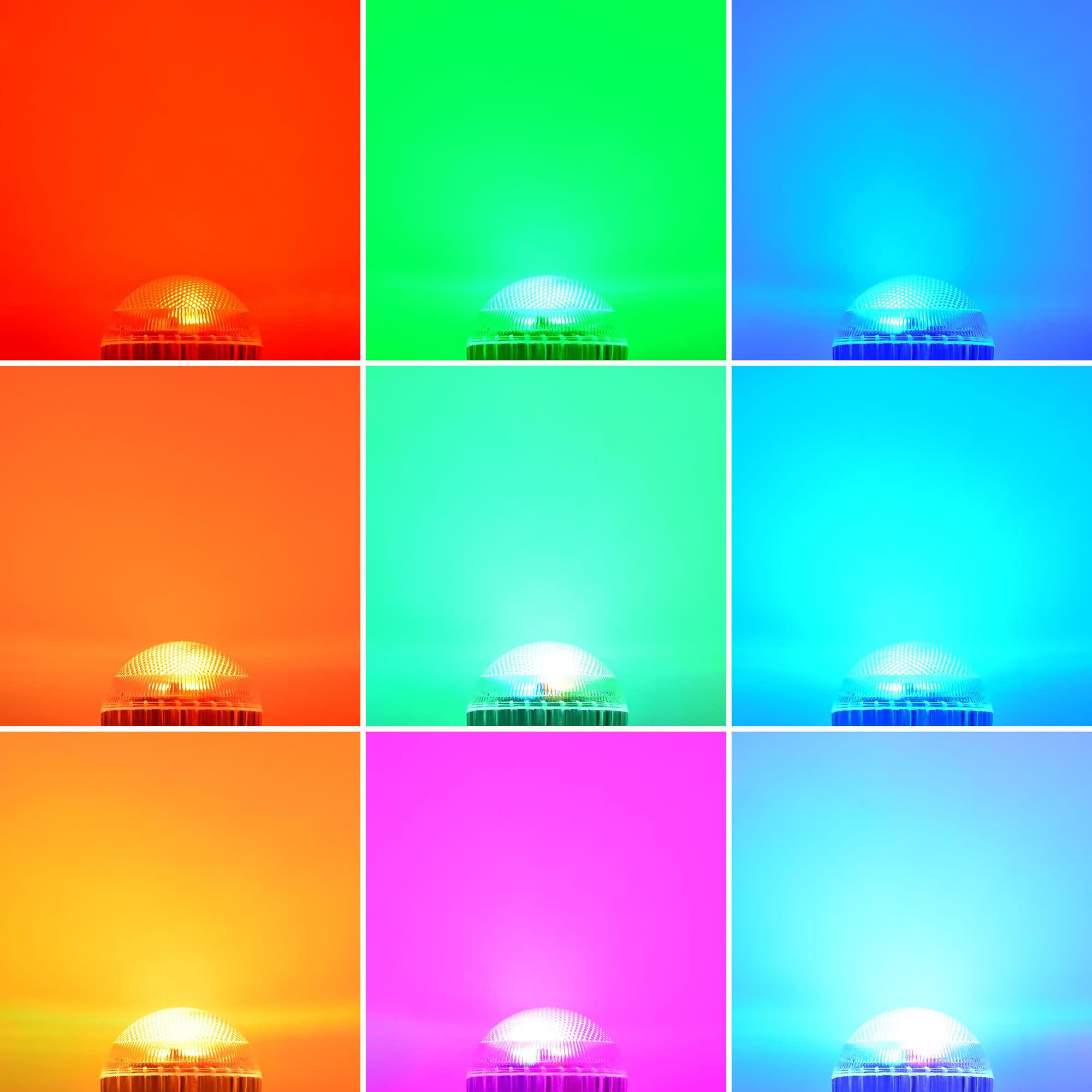 Gu10 8w Led Rgb Light 16 Colour Changing Smd Leds Led