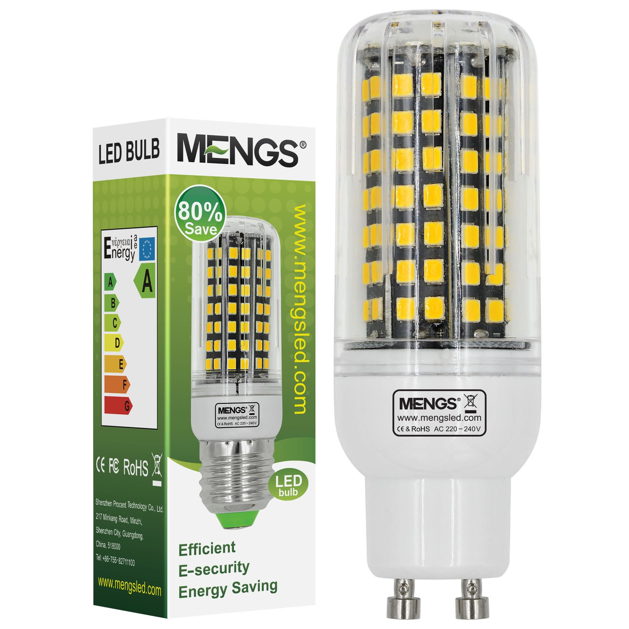 MENGS® GU10 10W LED Corn Light 112x 2835 SMD LED Bulb Lamp With Aluminum Plate In Warm White Energy-Saving Light