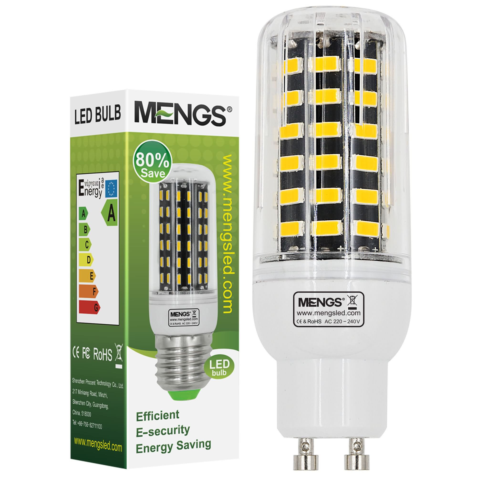 MENGS® GU10 9W LED Corn Light 64x 5733 SMD LED Bulb Lamp In Warm White Energy-Saving Lamp