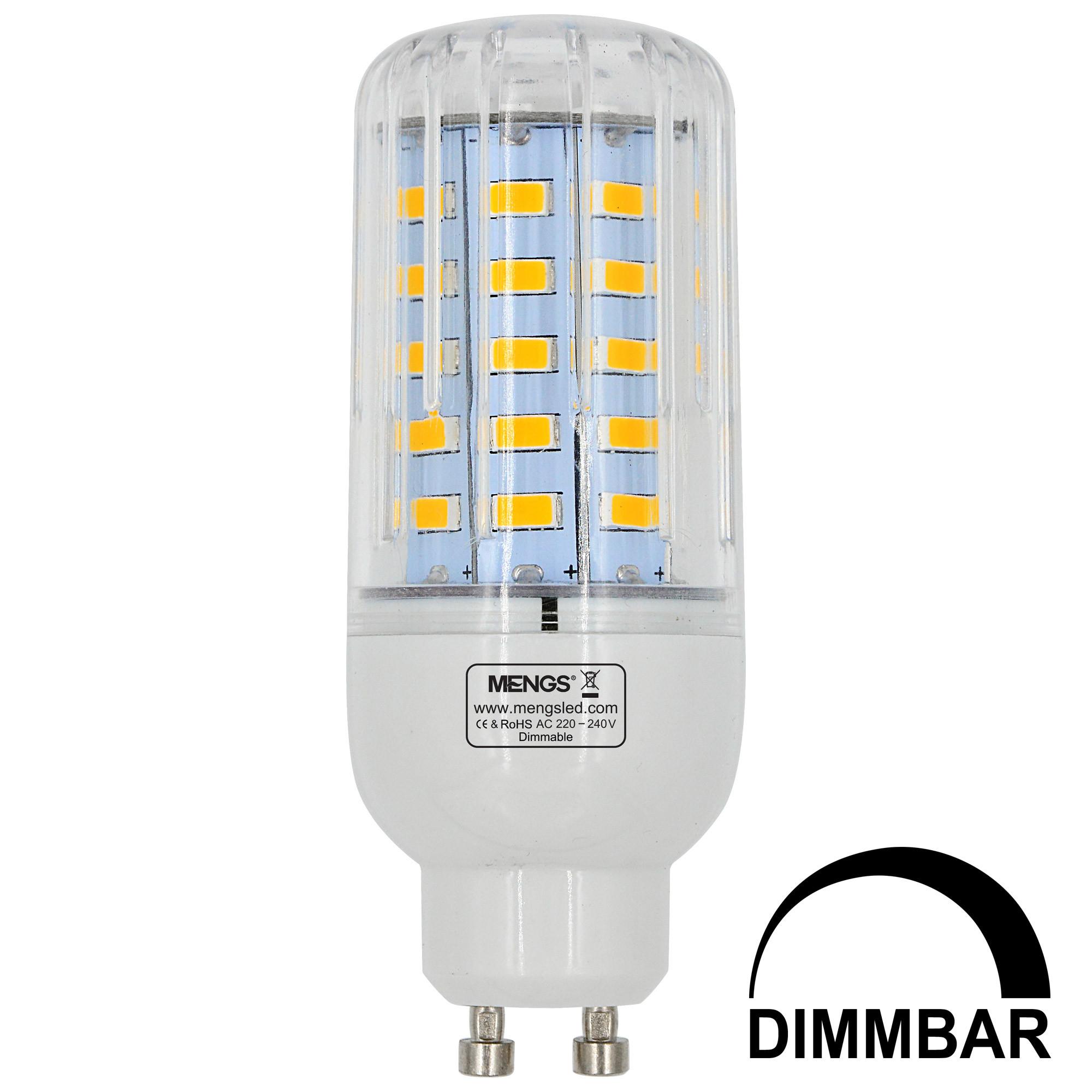 MENGS® GU10 7W LED Dimmable Corn Light 50x 5736 SMD LED Bulb Lamp AC 220-240V In Cool White Energy-Saving Light