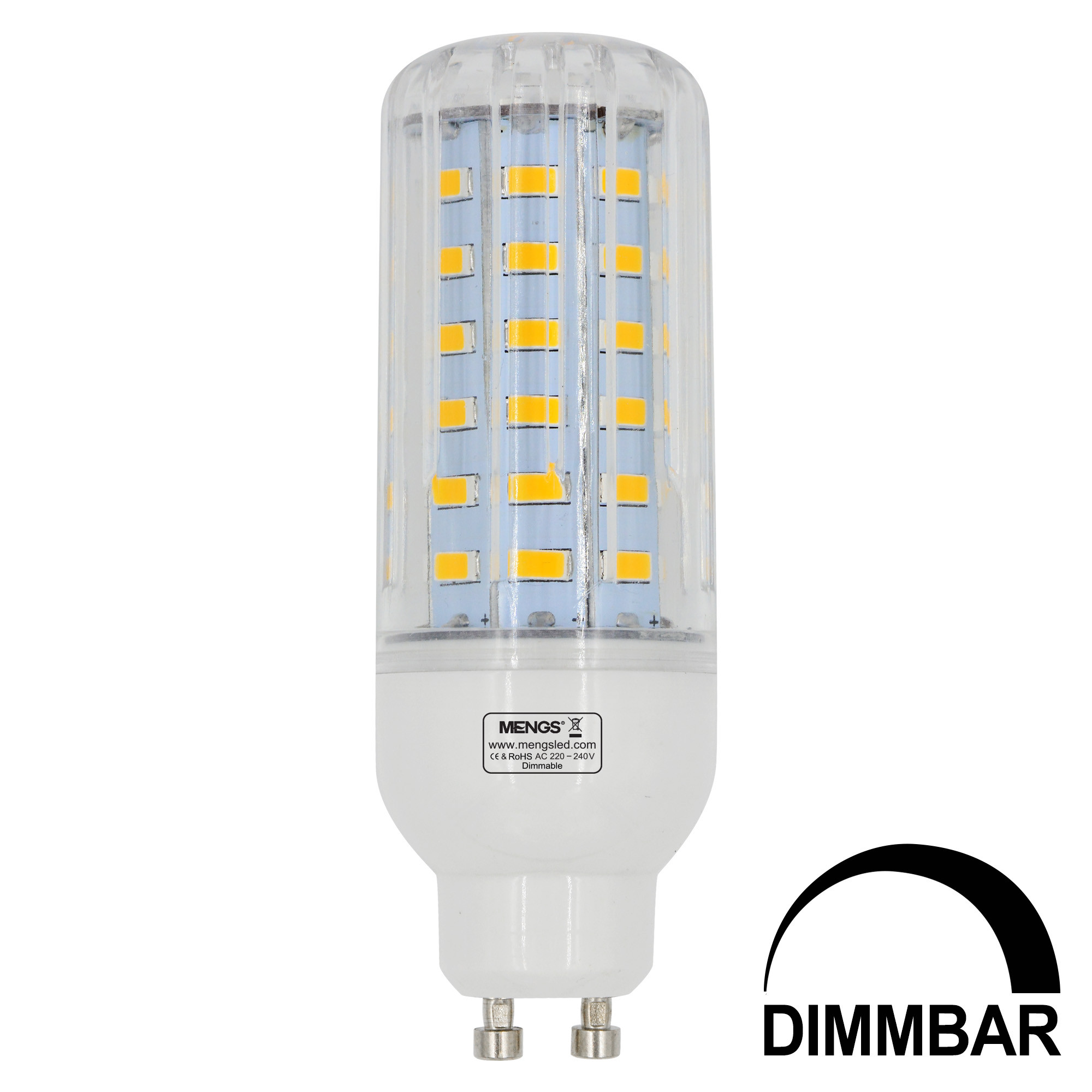 MENGS® GU10 9W LED Dimmable Corn Light 60x 5736 SMD LED Bulb Lamp AC 220-240V In Warm White Energy-Saving Light