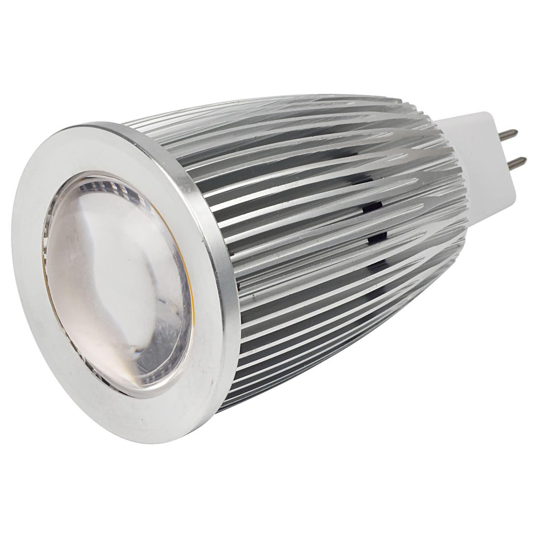 MENGS® MR16 7W LED Spotlight COB LEDs LED Bulb DC 12V in Warm White Energy-saving Lamp