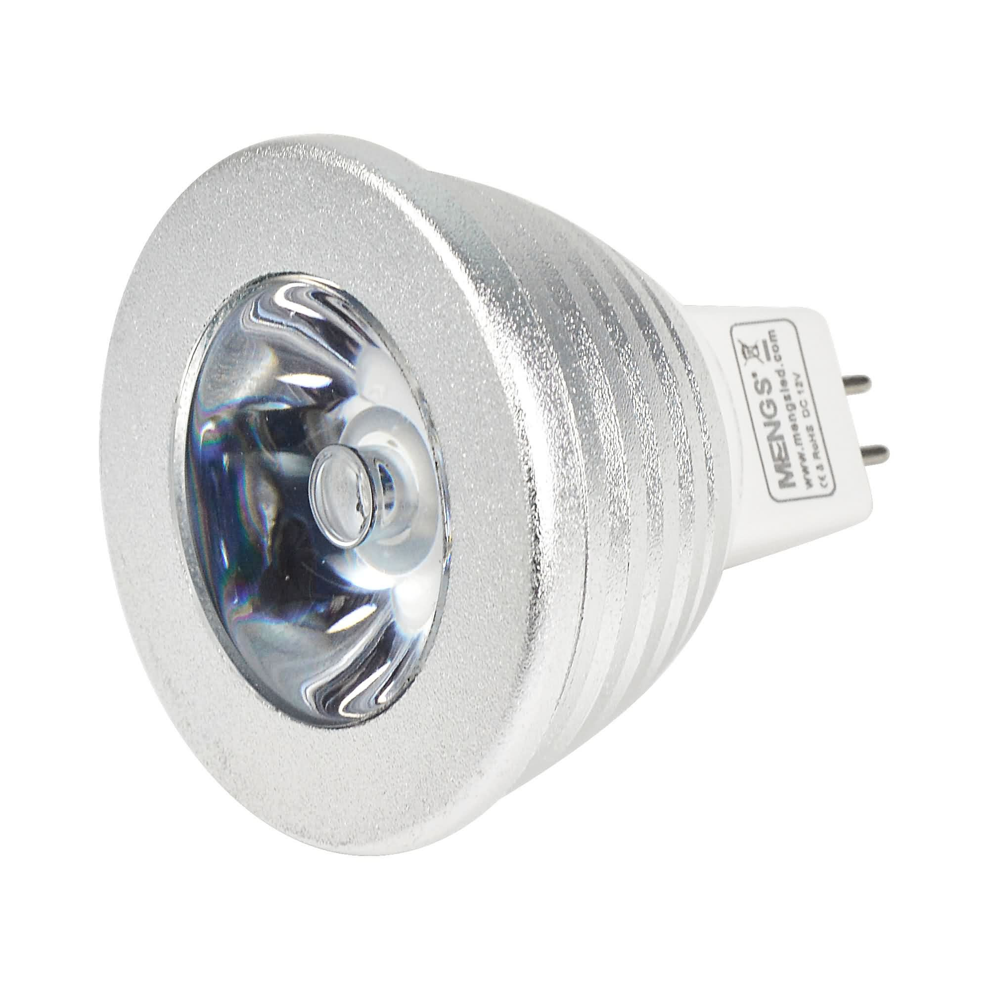 Mr16 3w Led Rgb Light 16 Colour Changing Smd Leds Led Spotlight Lamp Bulb With Ir Remote Control