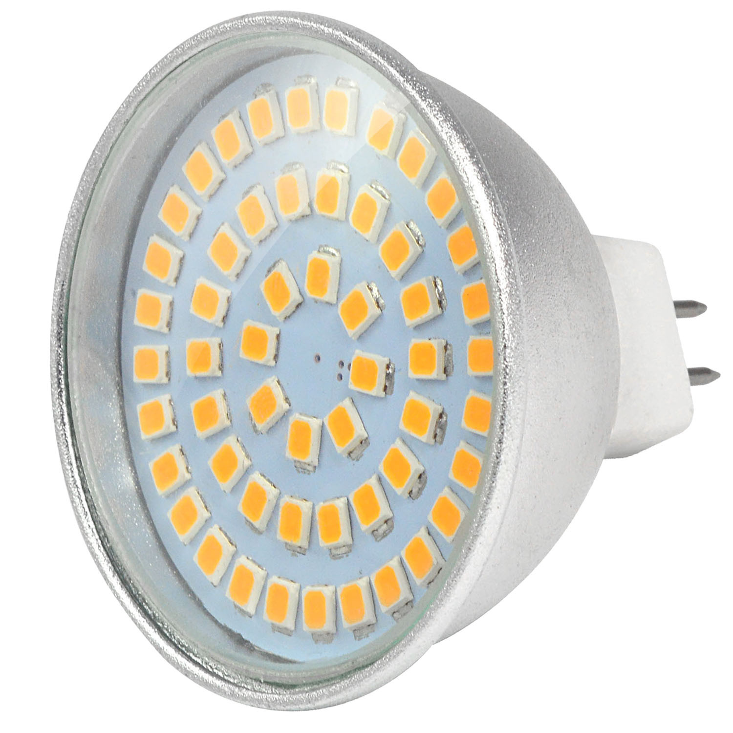 MENGS® MR16 5W LED Spotlight 54x 2835 SMD LED Bulb Lamp AC/DC 12V In Warm White Energy-Saving Light