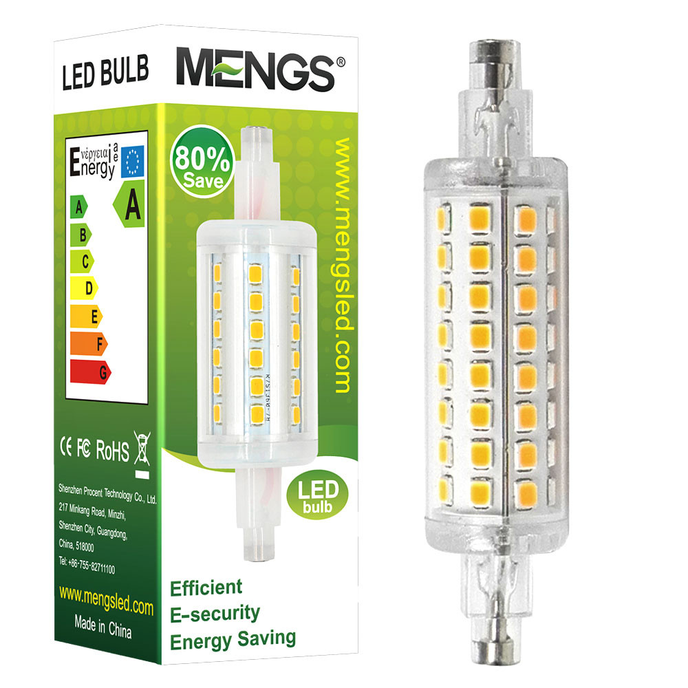 MENGS® R7S-J78 5W LED Flood Light 64x 2835 SMD Aluminum + PC LED Bulb Lamp AC 220-240V In Warm White Energy-Saving Light
