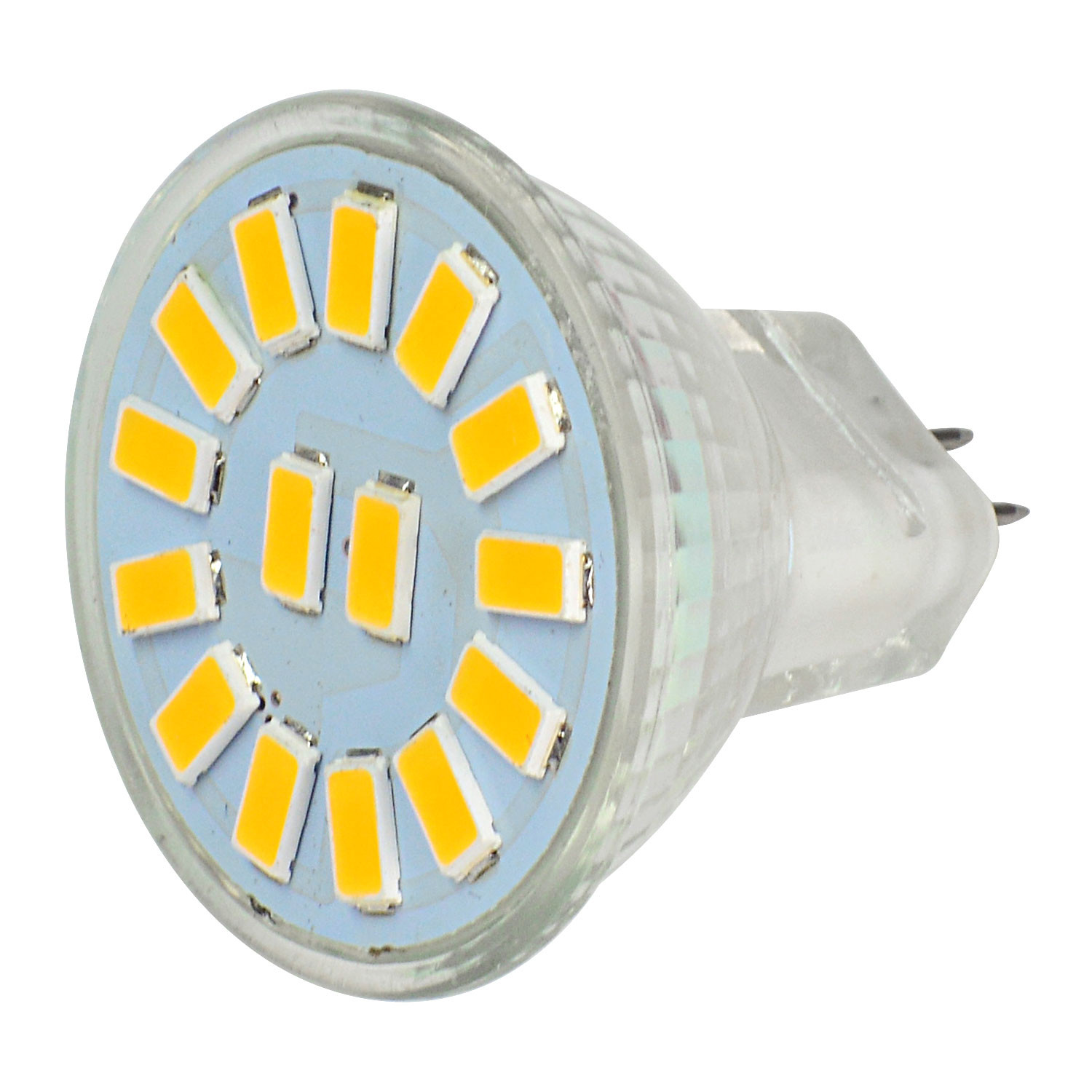 MENGS® MR11 4W LED Light 15x 5733 SMD LED Bulb Lamp AC/DC 12V In Cool White Energy-Saving Light