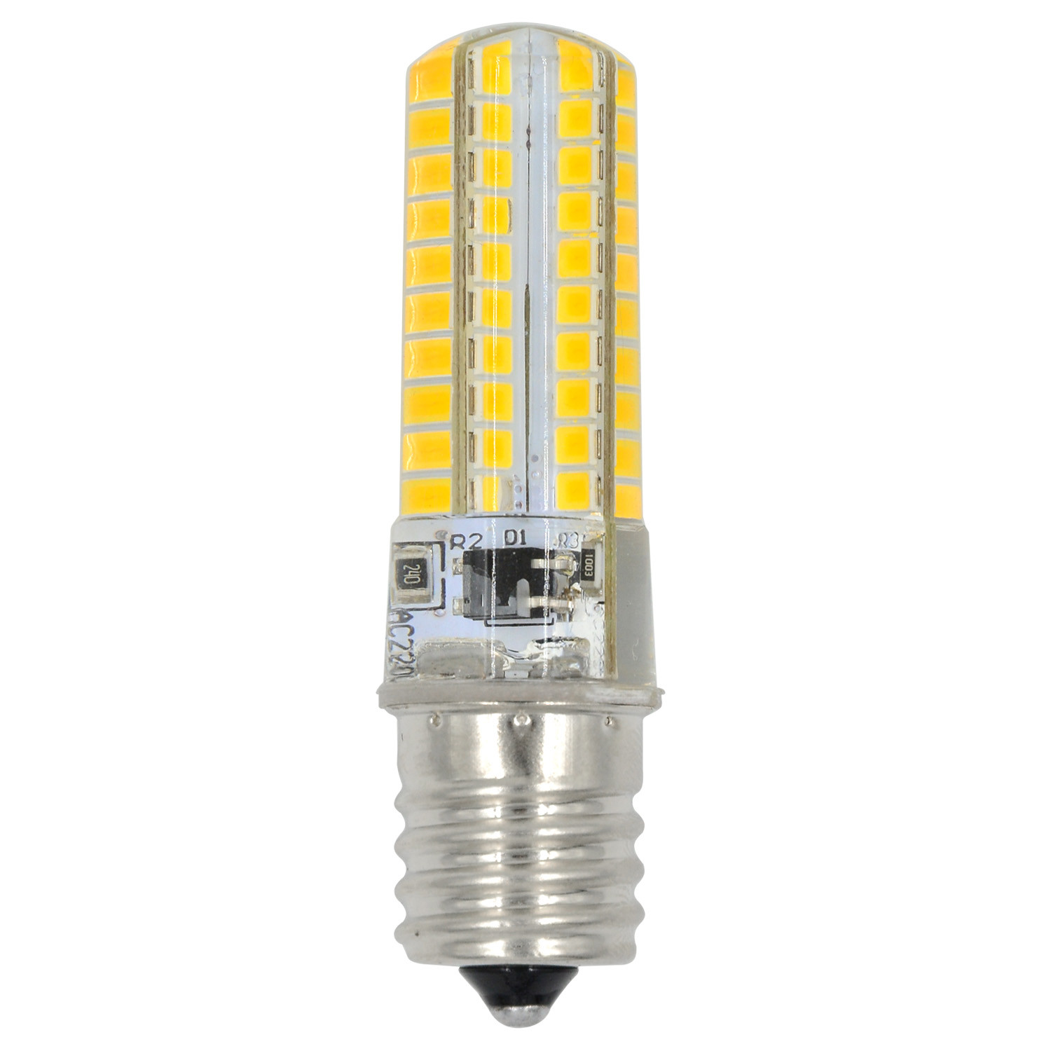 MENGS® E17 7W LED Light 80x 2835 SMD 3-level Brightness LED Bulb Lamp In Warm White Energy-Saving Light