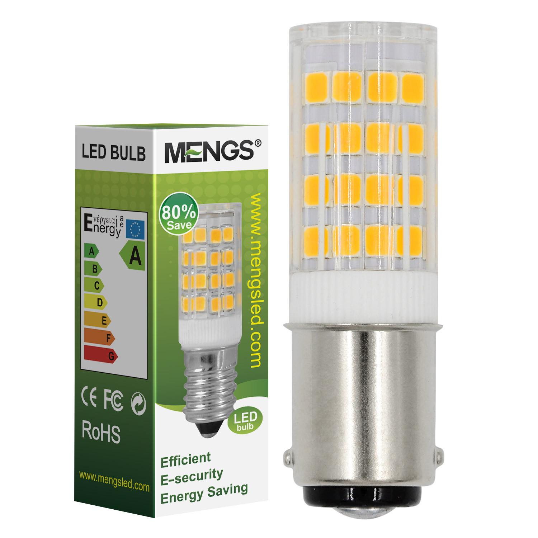 MENGS® B15D 5W LED Light 51x 2835 SMD LED Bulb Lamp In Cool White Energy-Saving Light