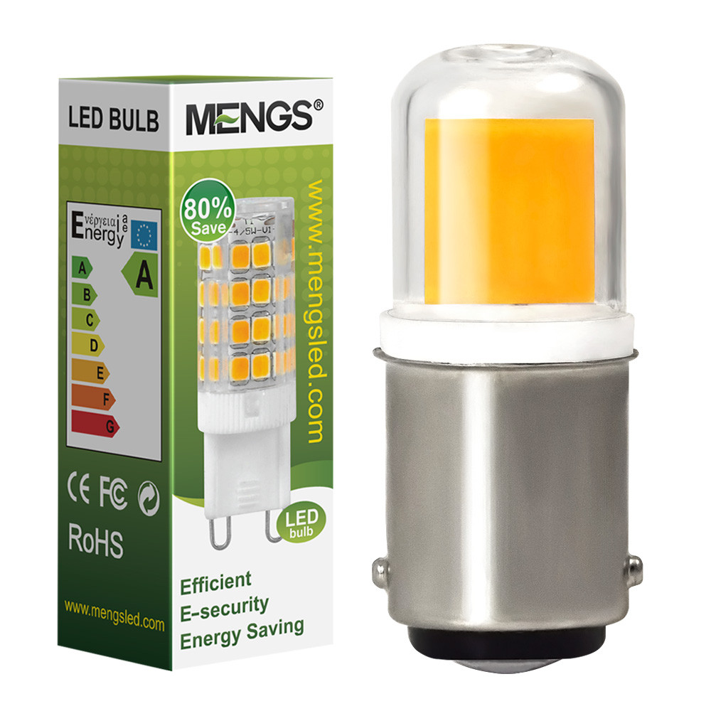 MENGS® B15D 4W = 30W LED Light COB LED Bulb Lamp With Ceramics + Glass AC 220-240V In Warm White Energy-Saving Light