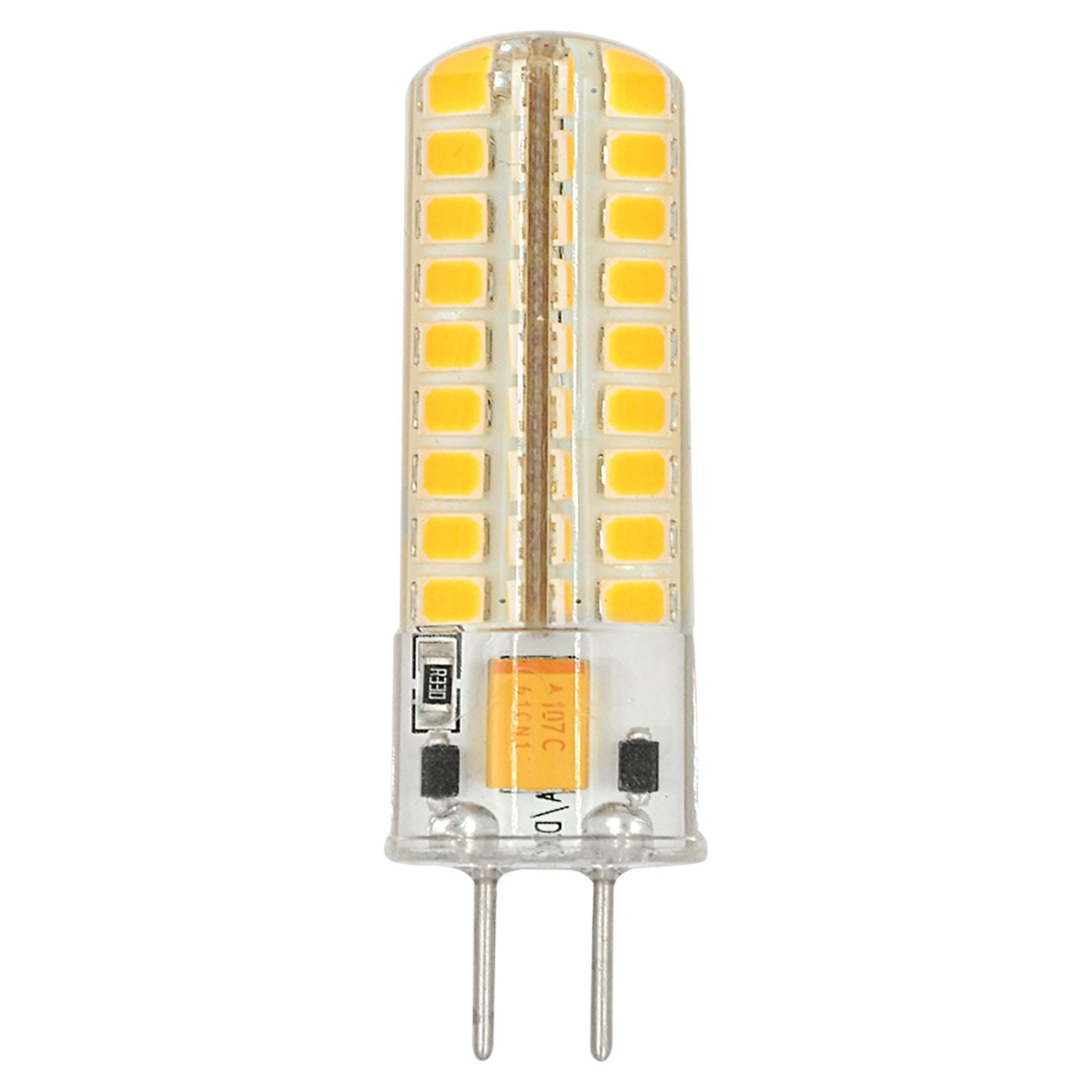 MENGS® GY6.35 5W LED Light 72x 2835 SMD With Silicone Material LED Bulb Lamp AC/DC 12V In Warm White Energy-Saving Light